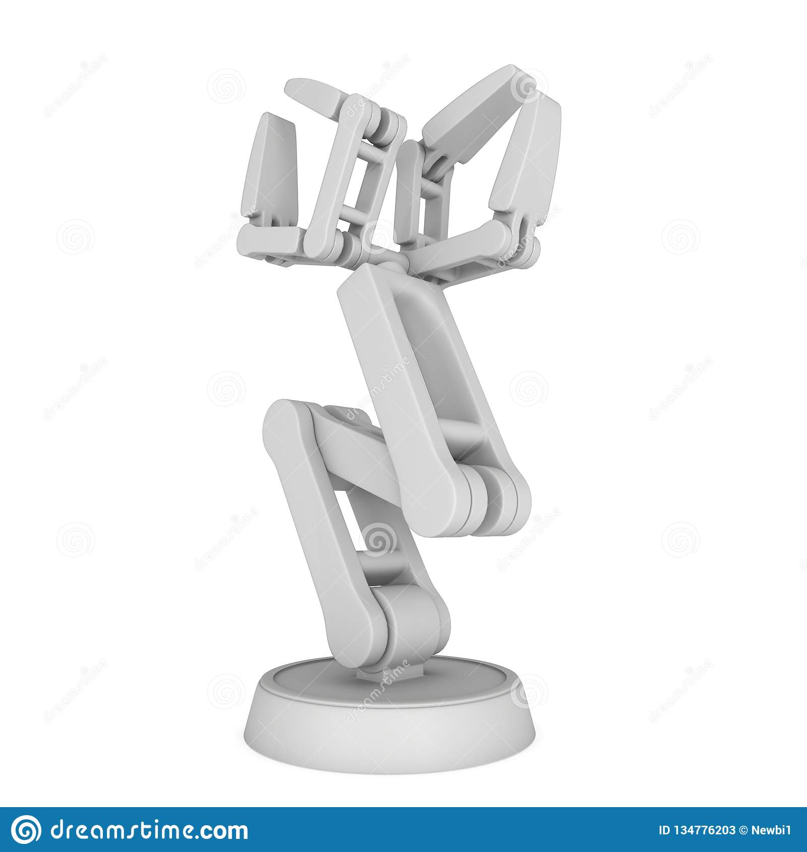 Robotic arm 3d stock illustration  Illustration of design - 134776203