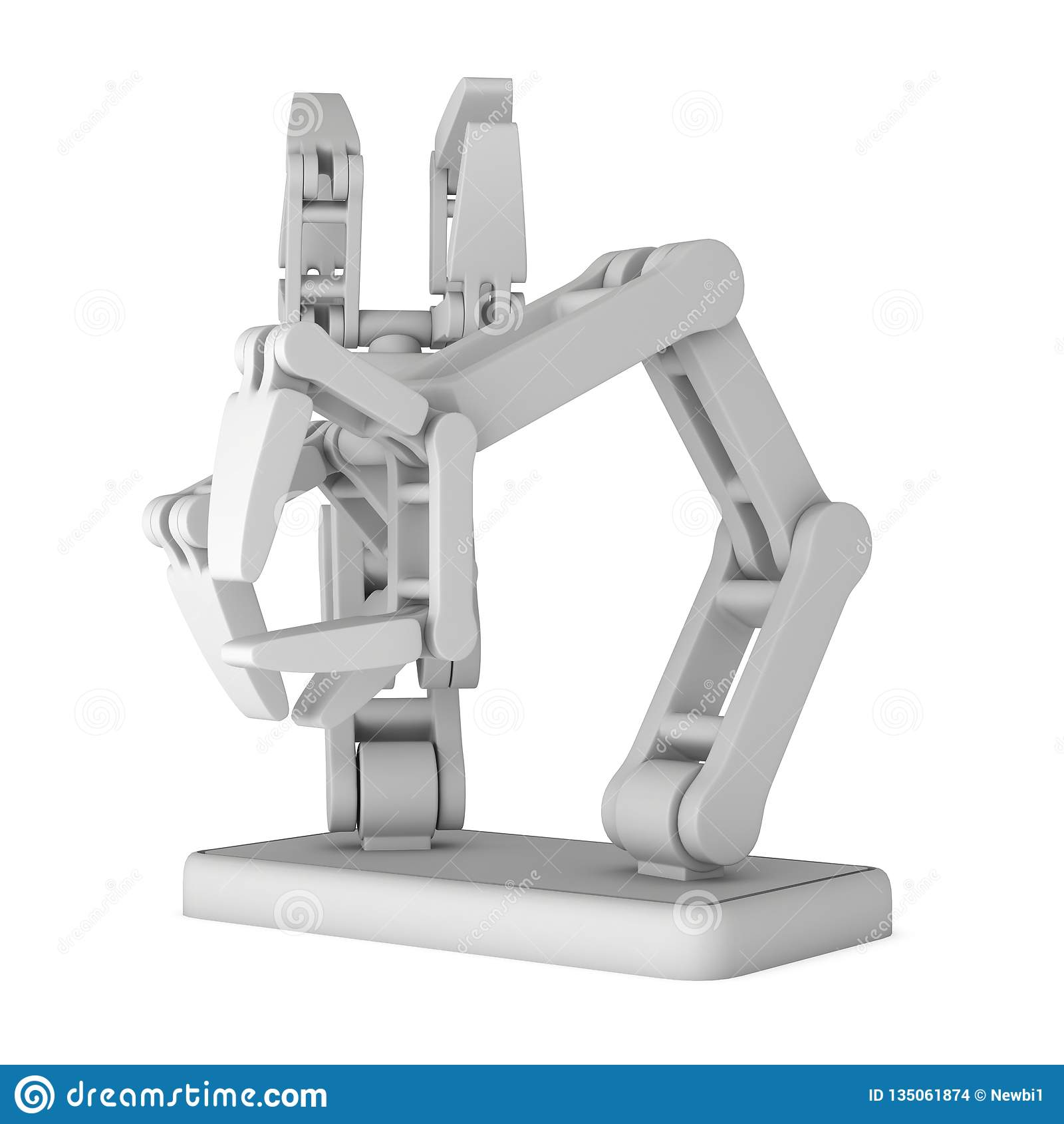 Robotic arm 3d stock illustration  Illustration of object - 135061874
