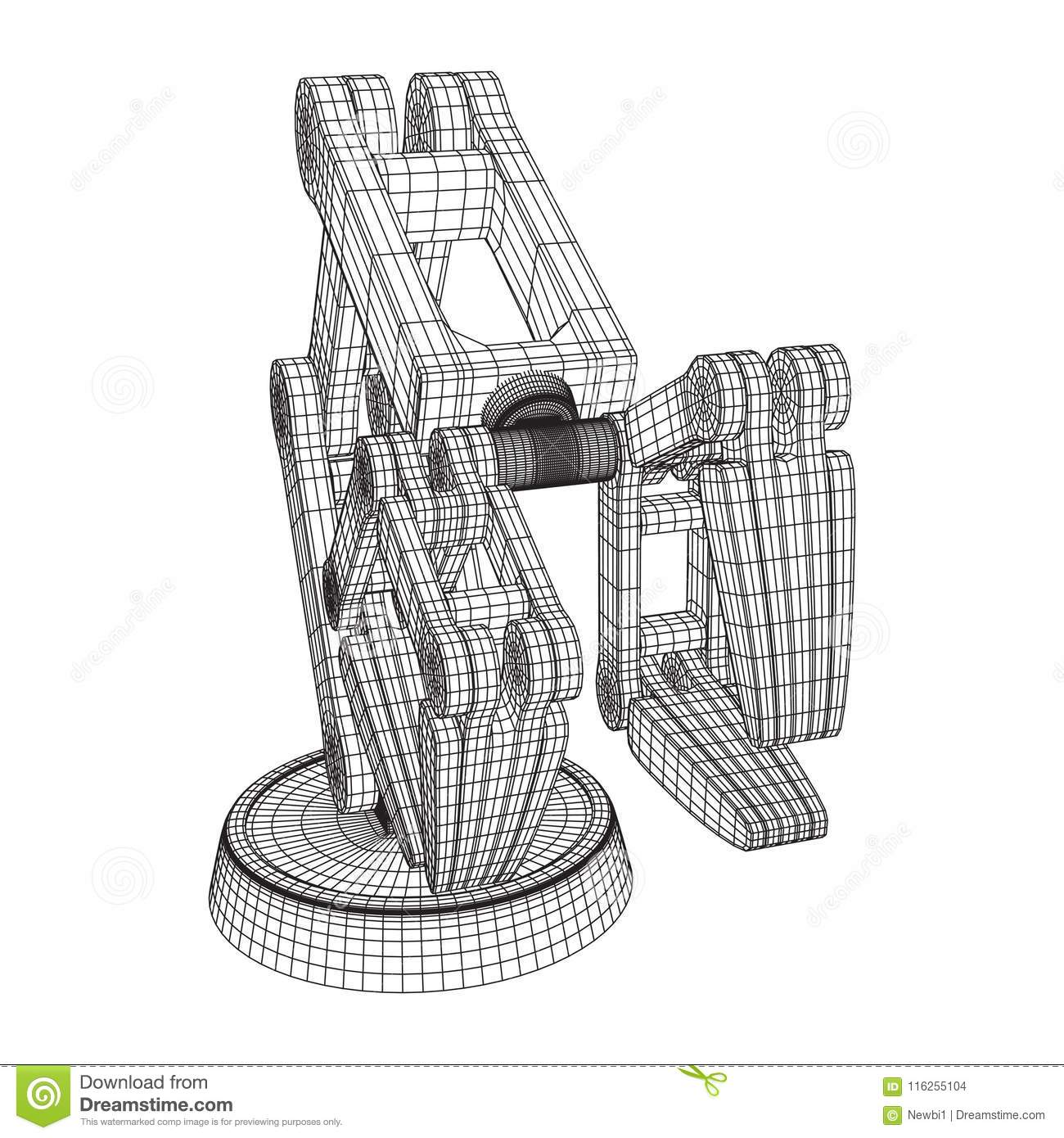 Robotic Arm Vector Stock Vector Illustration Of Engineering 116255104