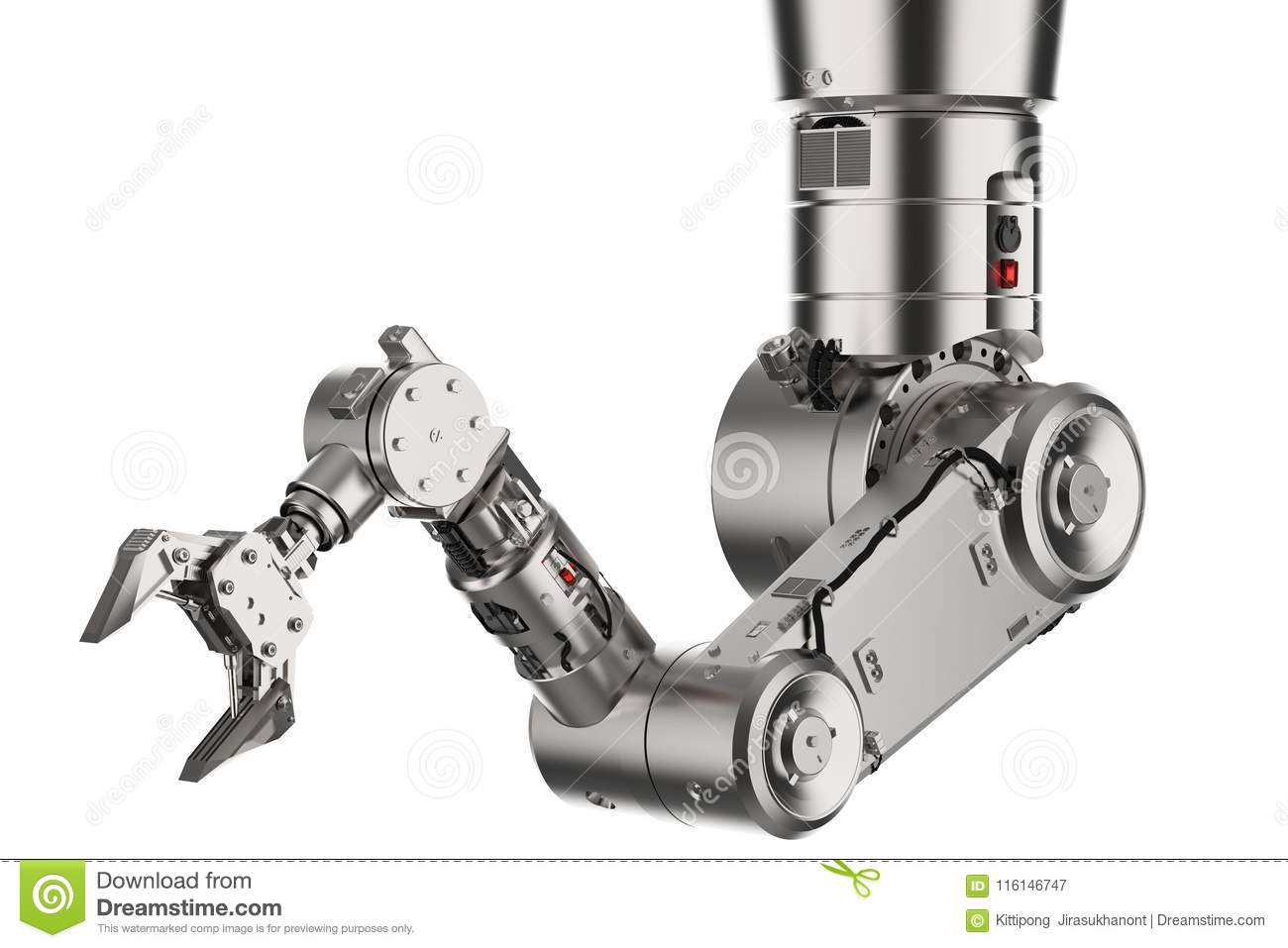 Robotic arm or robot hand stock illustration  Illustration of