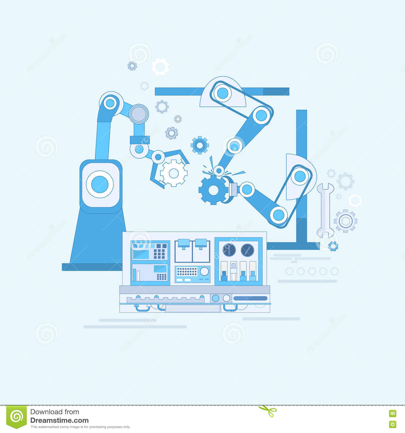 automation in production vector illustration Heavy Equipment Clip Art Heavy Equipment Clip Art