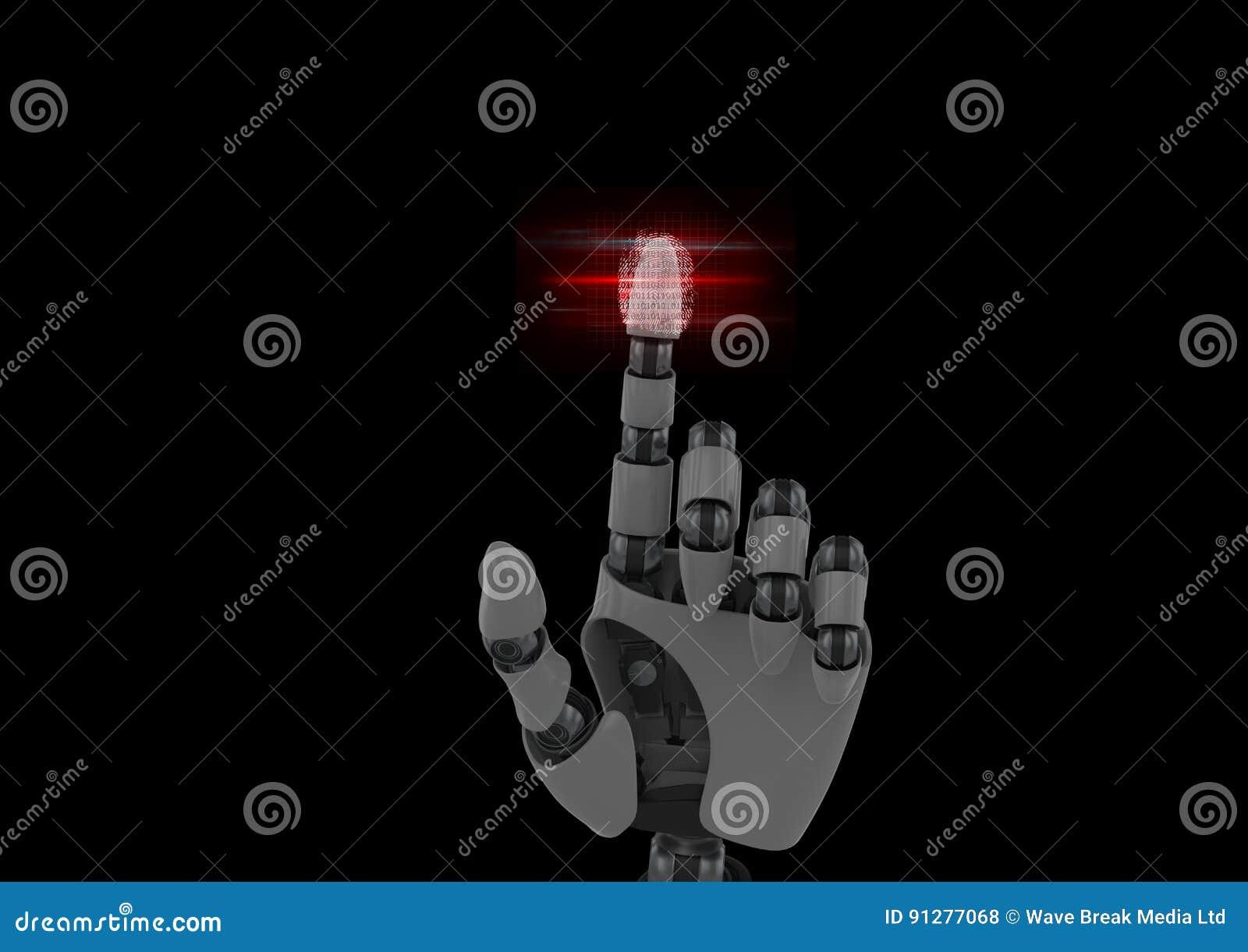 Robotic fingeravtryckbildläsning med röda signalljus
