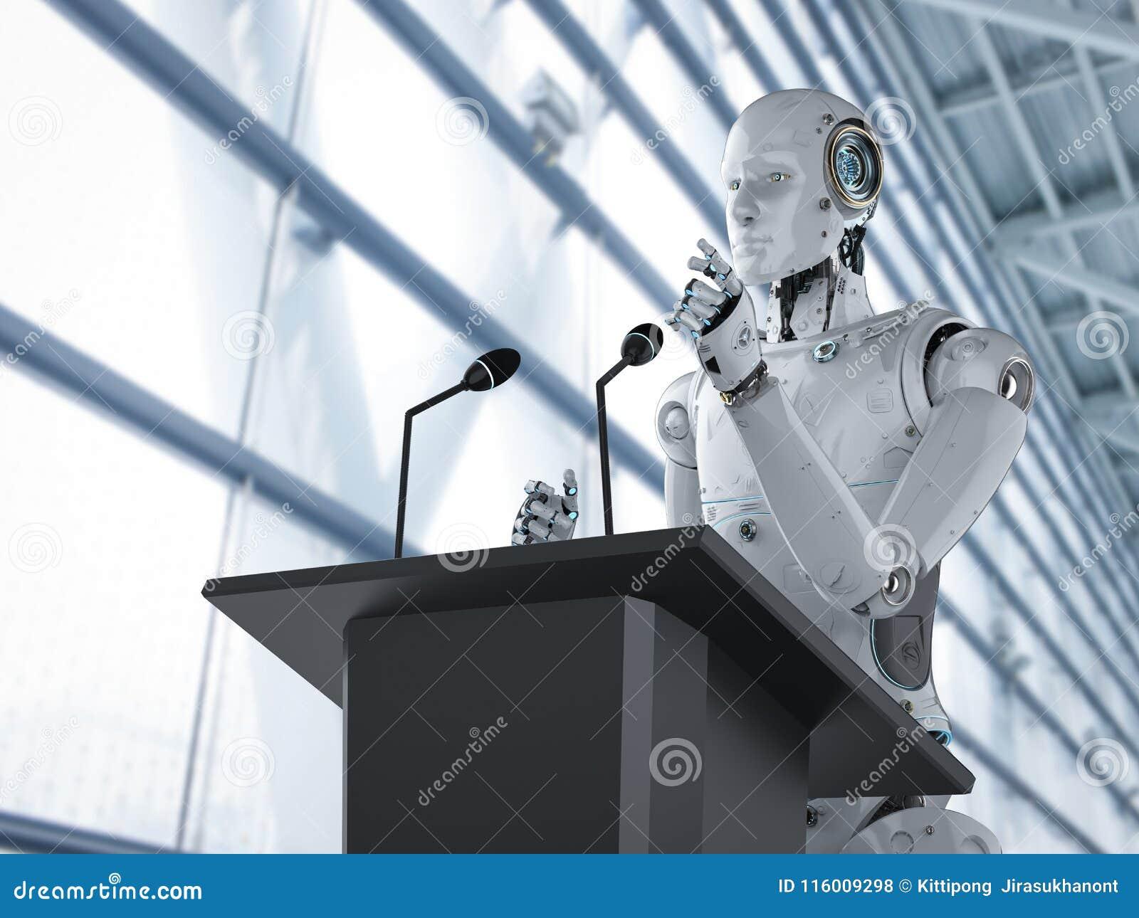 Robotic offentlig högtalare