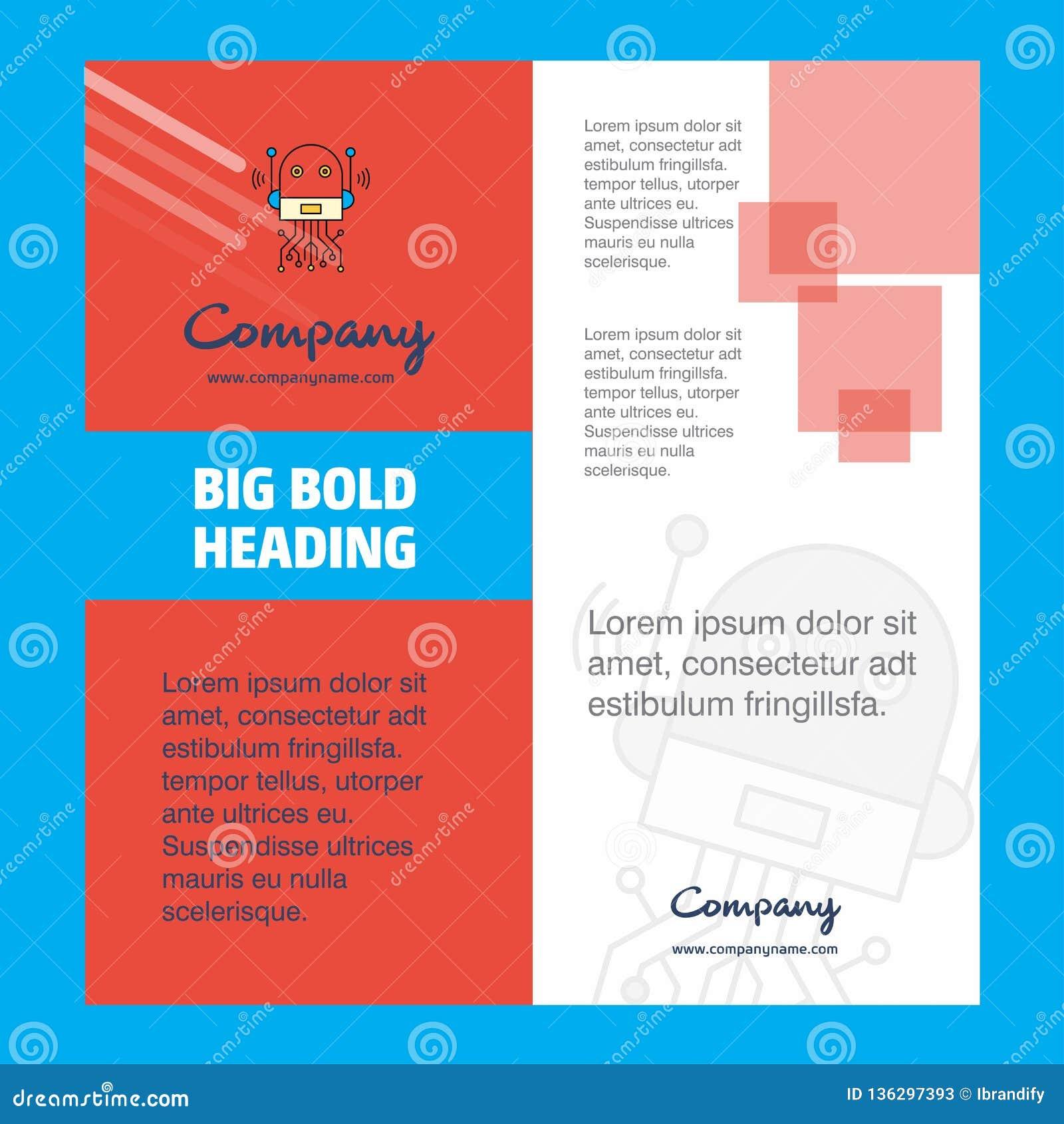 Robotics Company Brochure Title Page Design Company Profile
