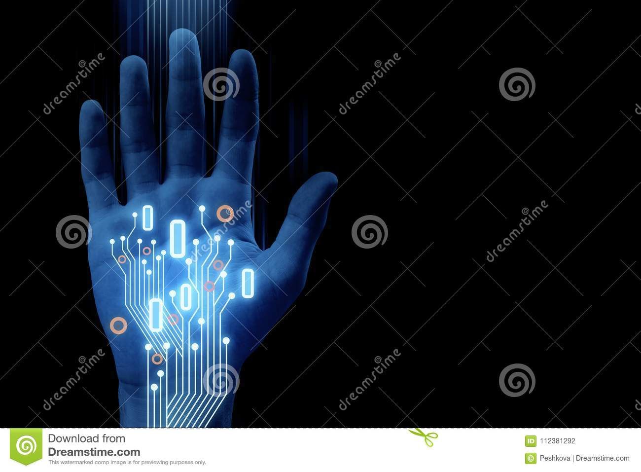Robotics And Cyberspace Background Stock Illustration Illustration