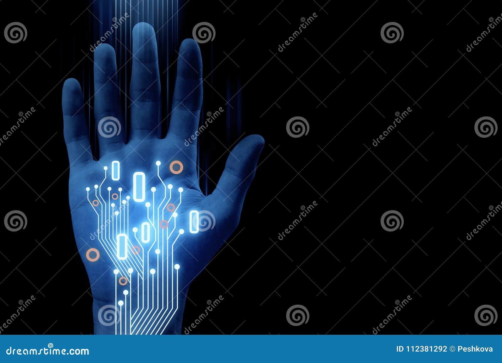 Robotics And Cyberspace Background Stock Illustration Illustration