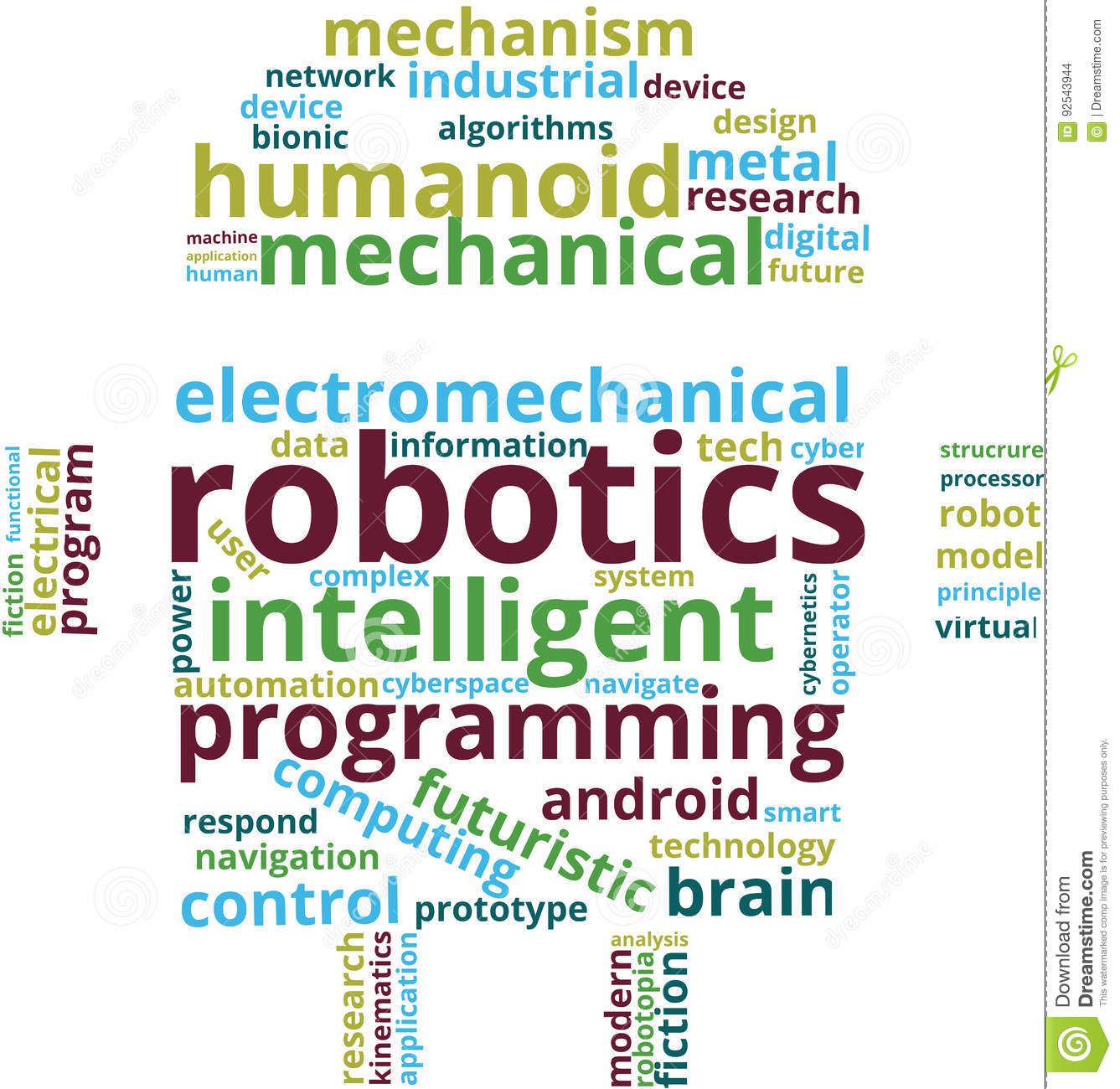 Robotics Word Cloud Text Illustration Stock Vector Illustration