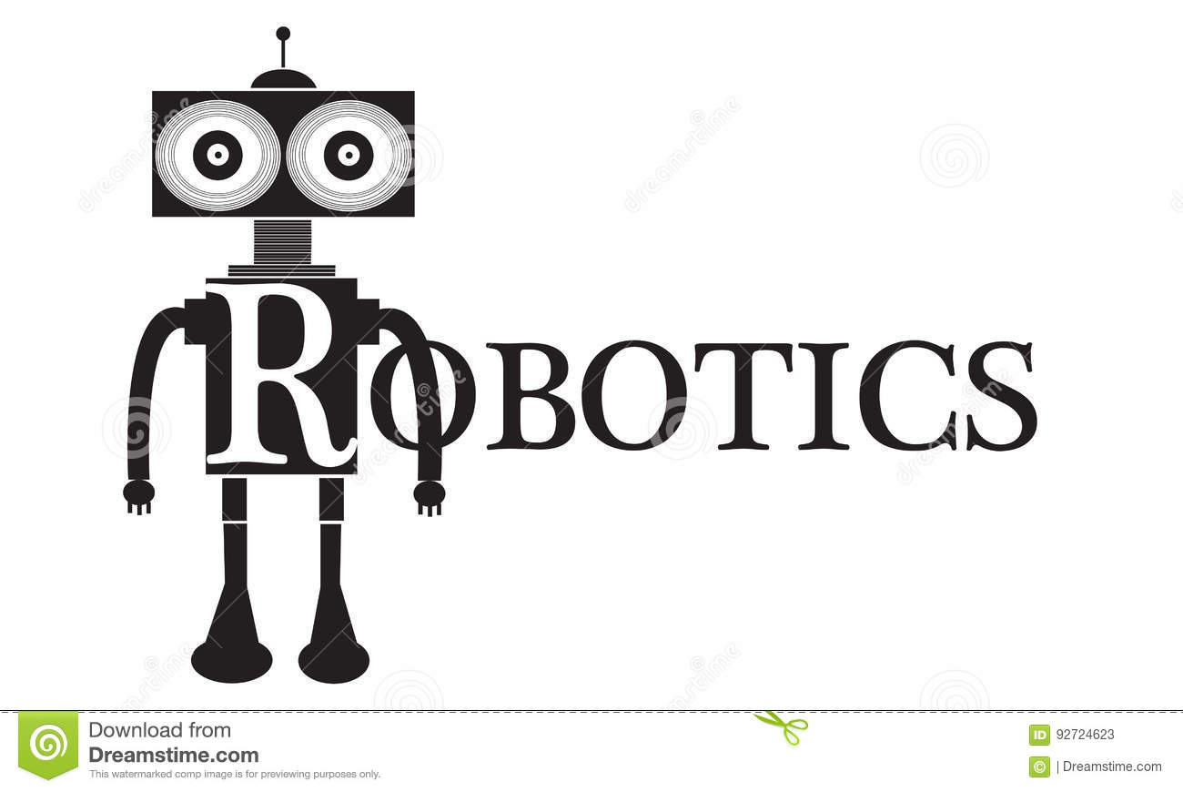 Robotics Word Text Conceptual Illustration Stock Illustration