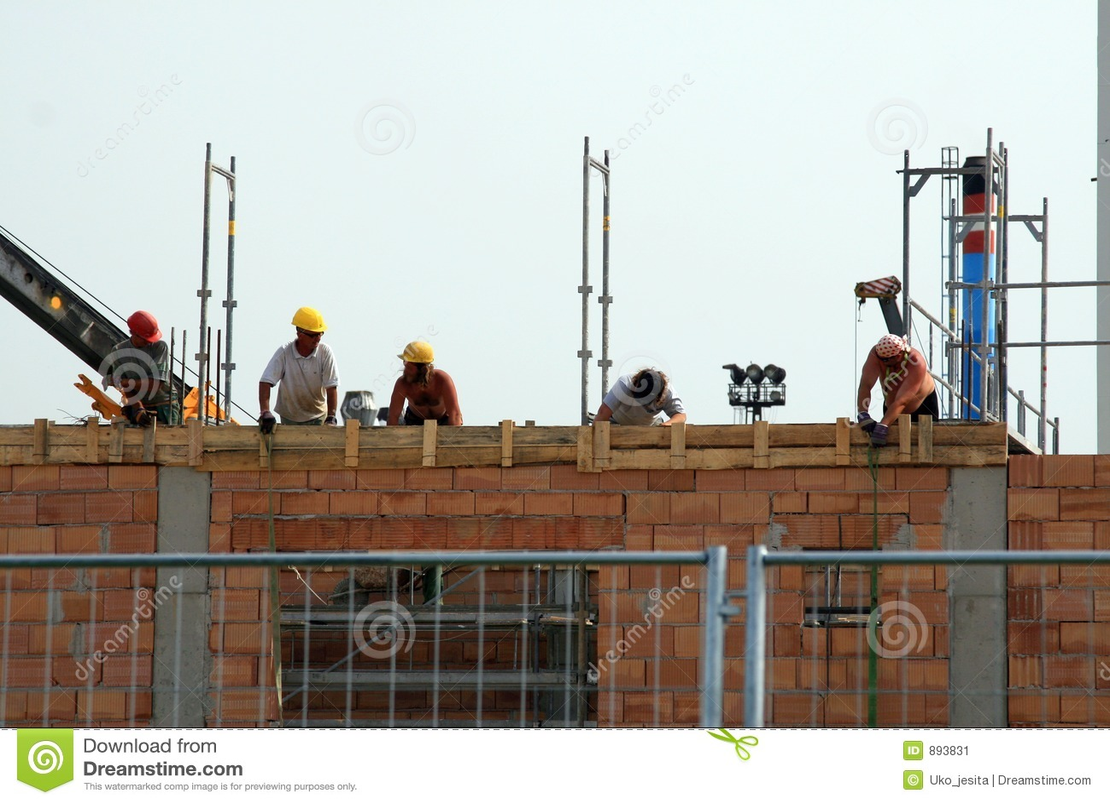 Robotników budowlanych