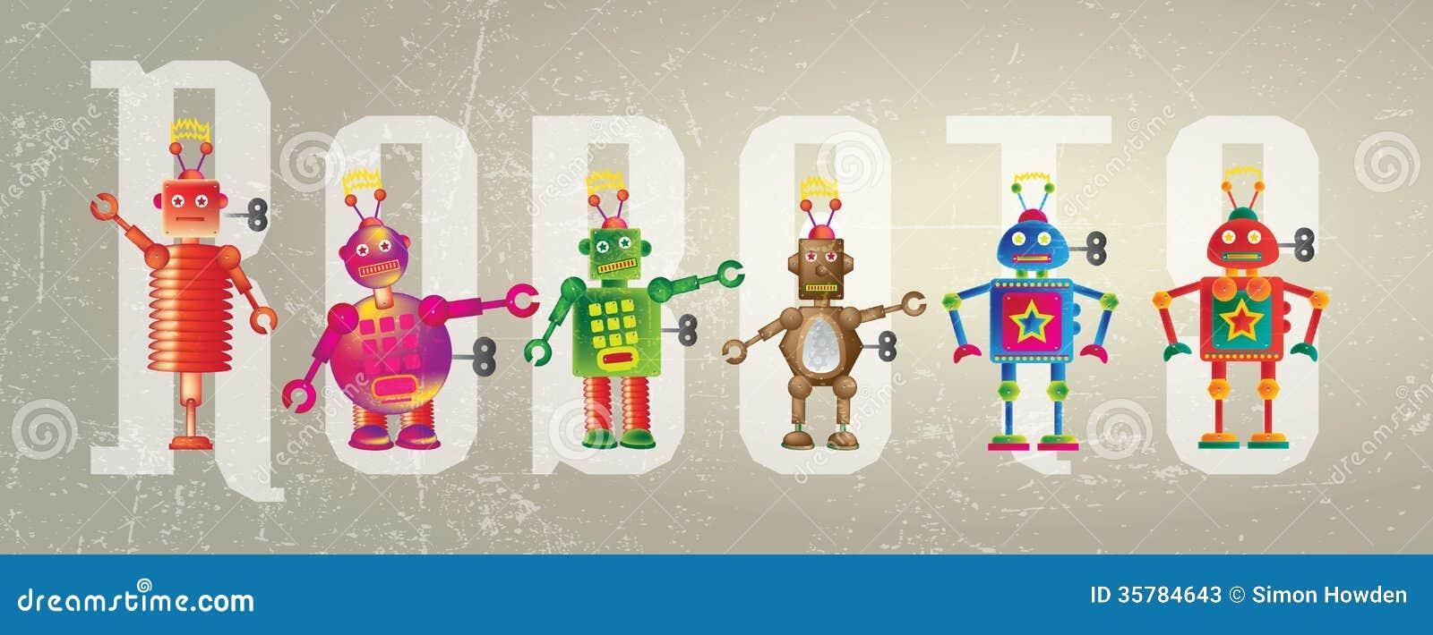 Robots Banner Illustration 35784643 Megapixl