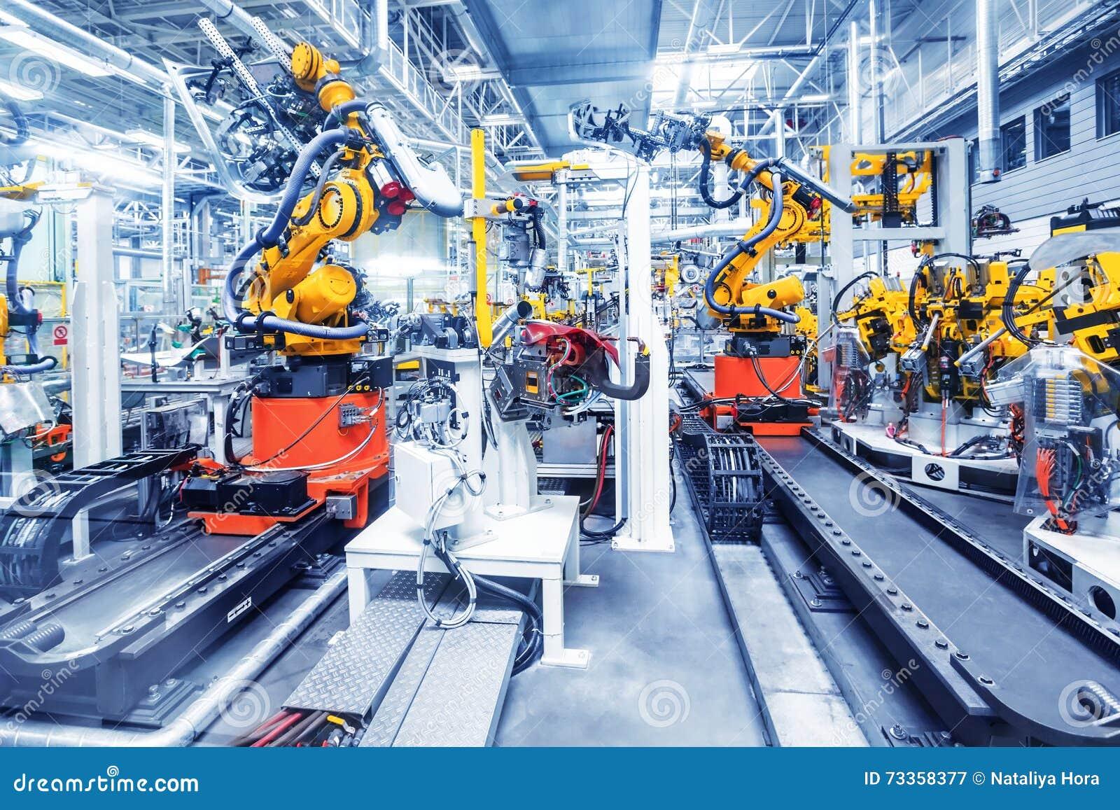 Robots in een autofabriek