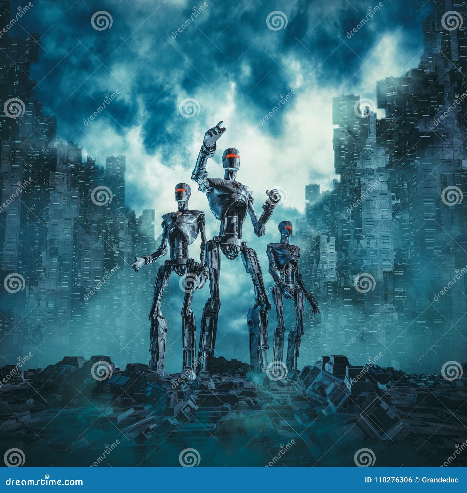 Robots en patrulla