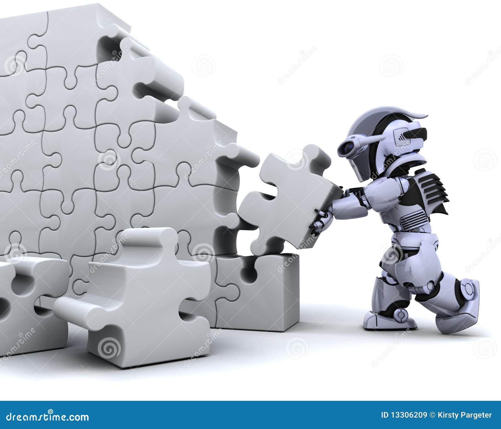 Robusteza que soluciona rompecabezas de rompecabezas