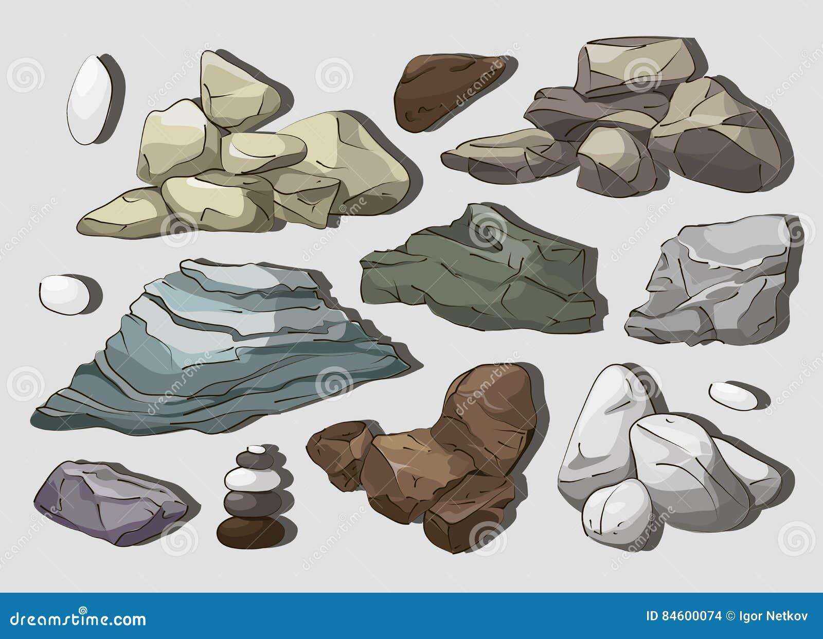 Rocas y elementos de las piedras
