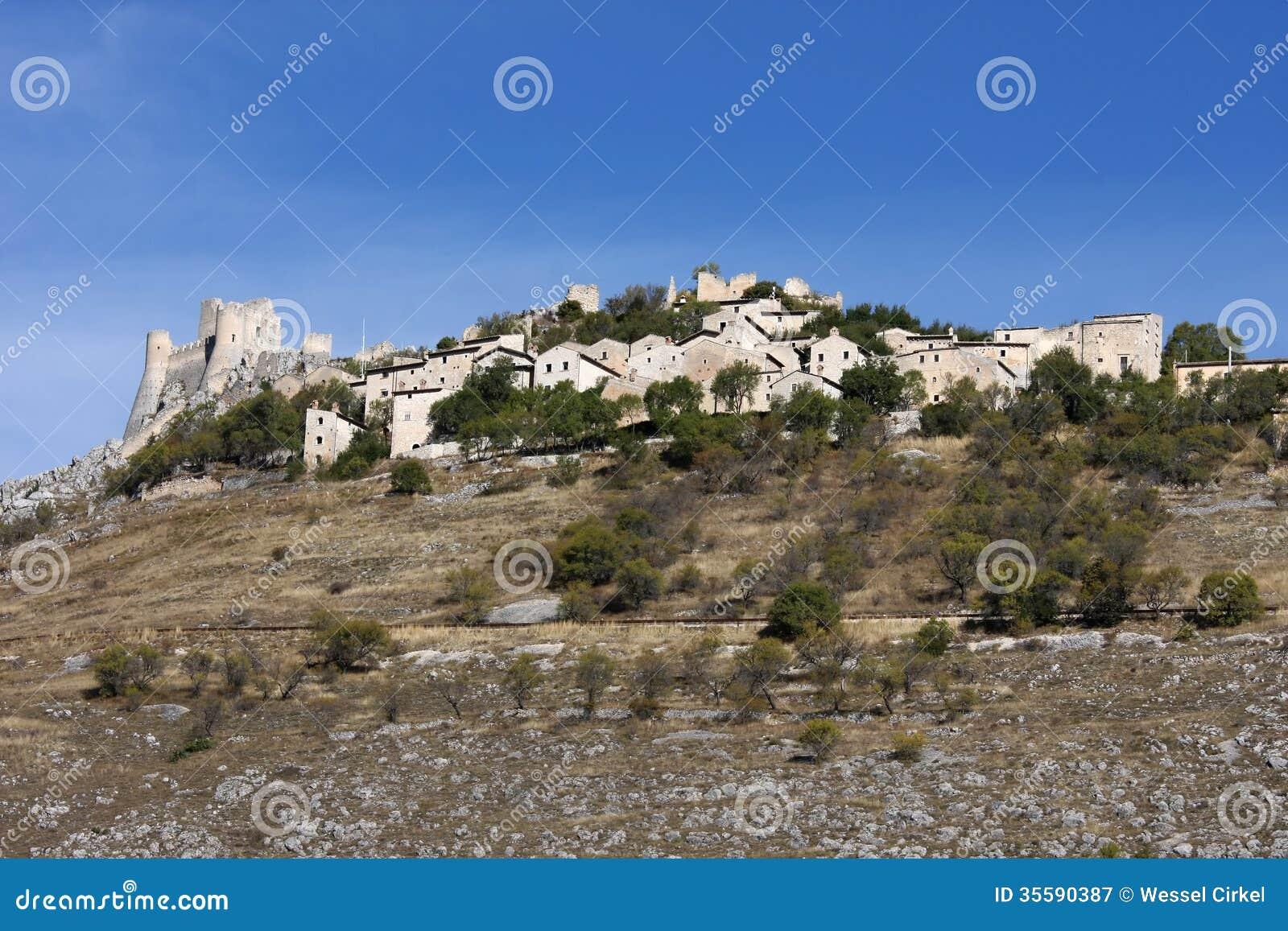 Rocca卡拉肖,亚平宁山脉,意大利堡垒