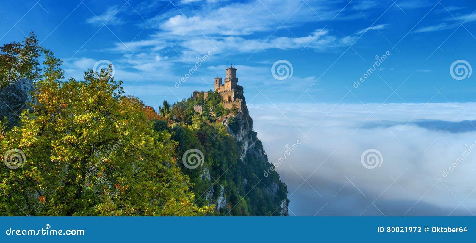 Rocca della Guaita, den sanmarinska mest forntida fästningen, Italien