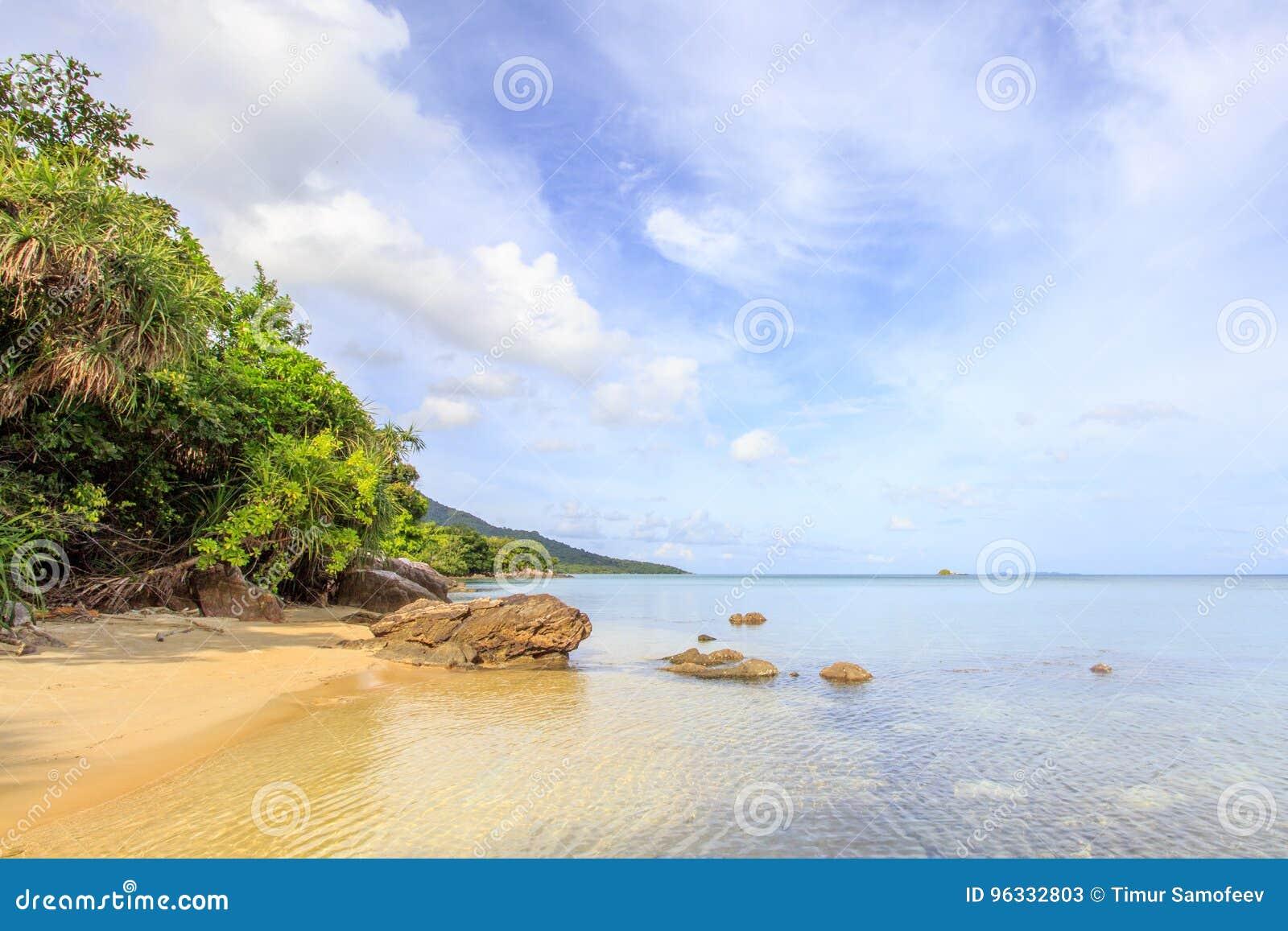 Rocce della linea costiera della spiaggia di Karimunjawa Indonesia Java