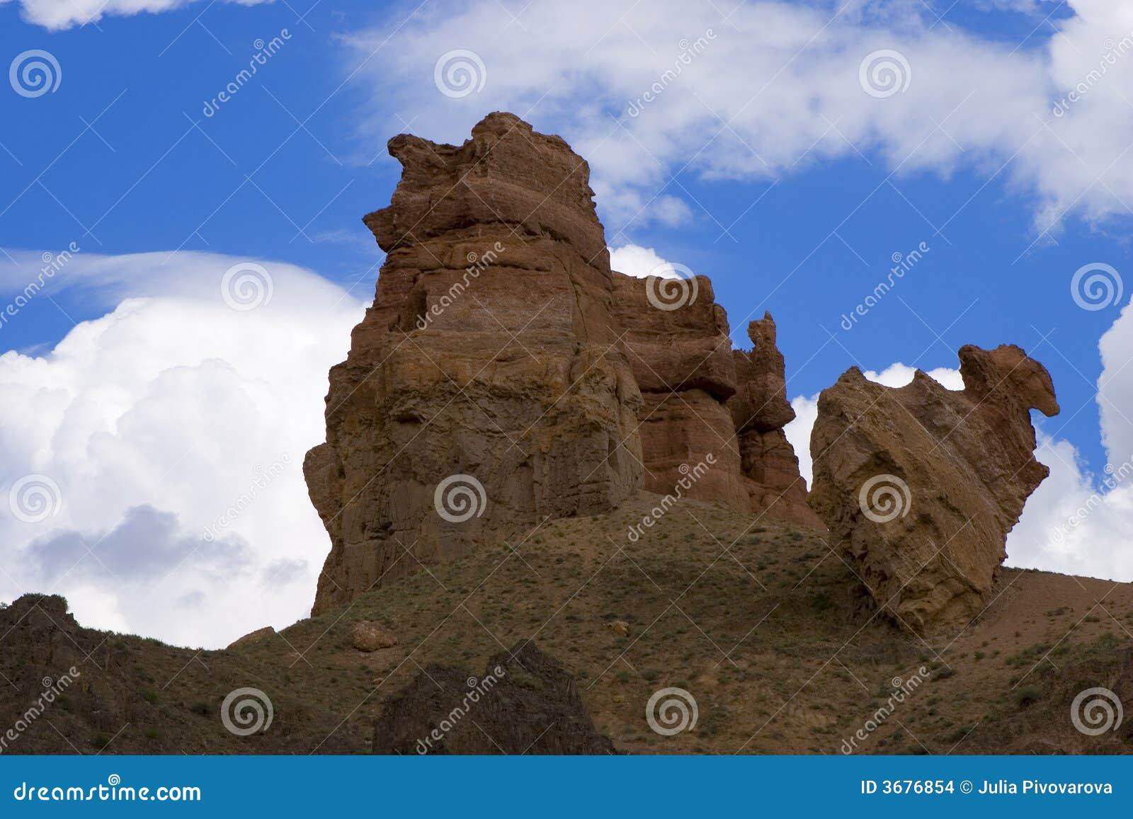 Download Roccia In Canyon Del Riwer Charyn Fotografia Stock - Immagine di terra, bello: 3676854