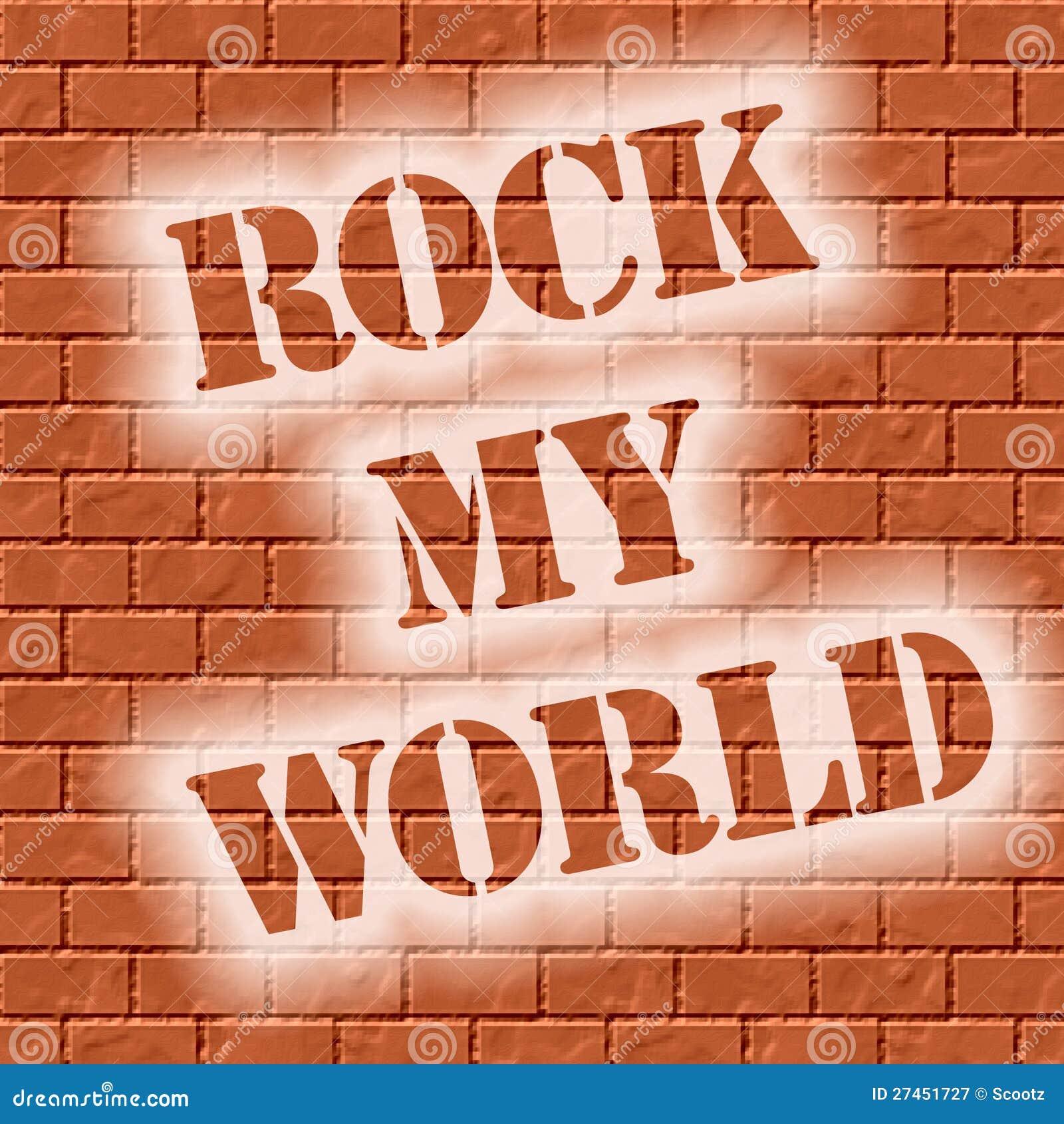 Roccia del muro di mattoni il mio mondo