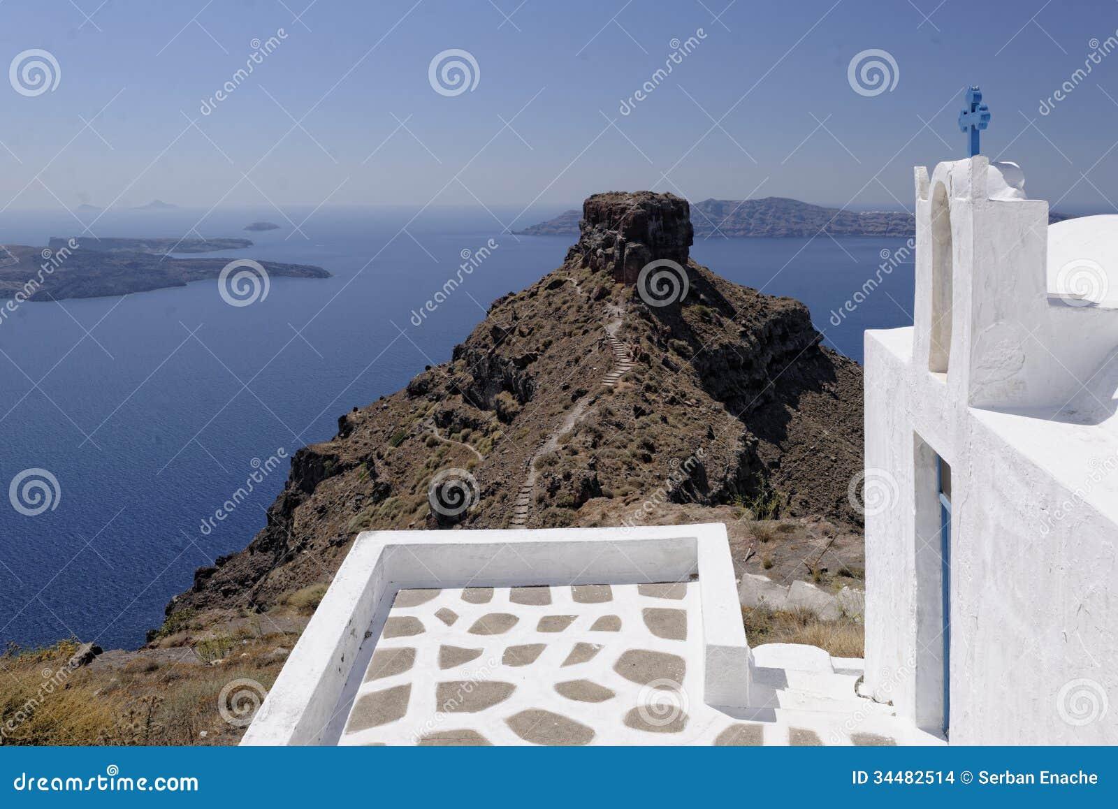 Roccia di Skaros e chiesa di Agios Georgios