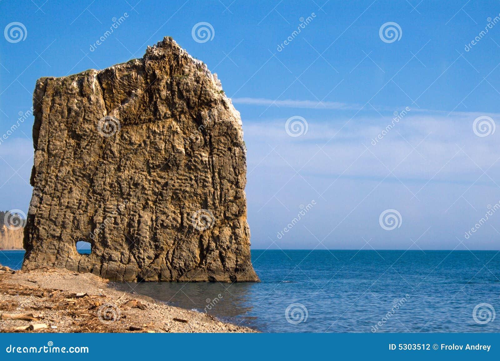 Download Roccia piana sola fotografia stock. Immagine di caratteristica - 5303512