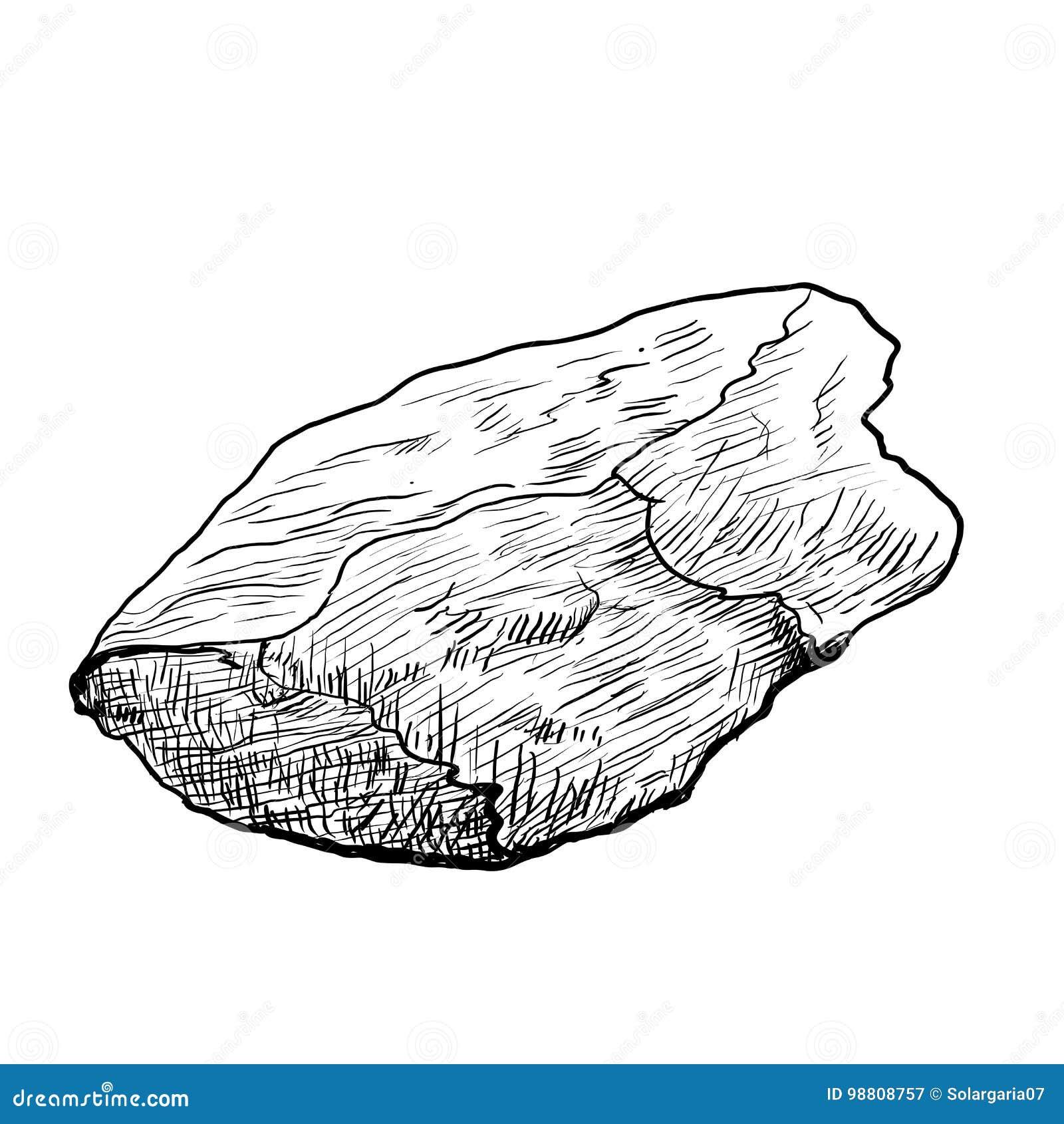 Rocha Do Desenho Da Mao Ilustracao Tirada Vetor Ilustracao Do