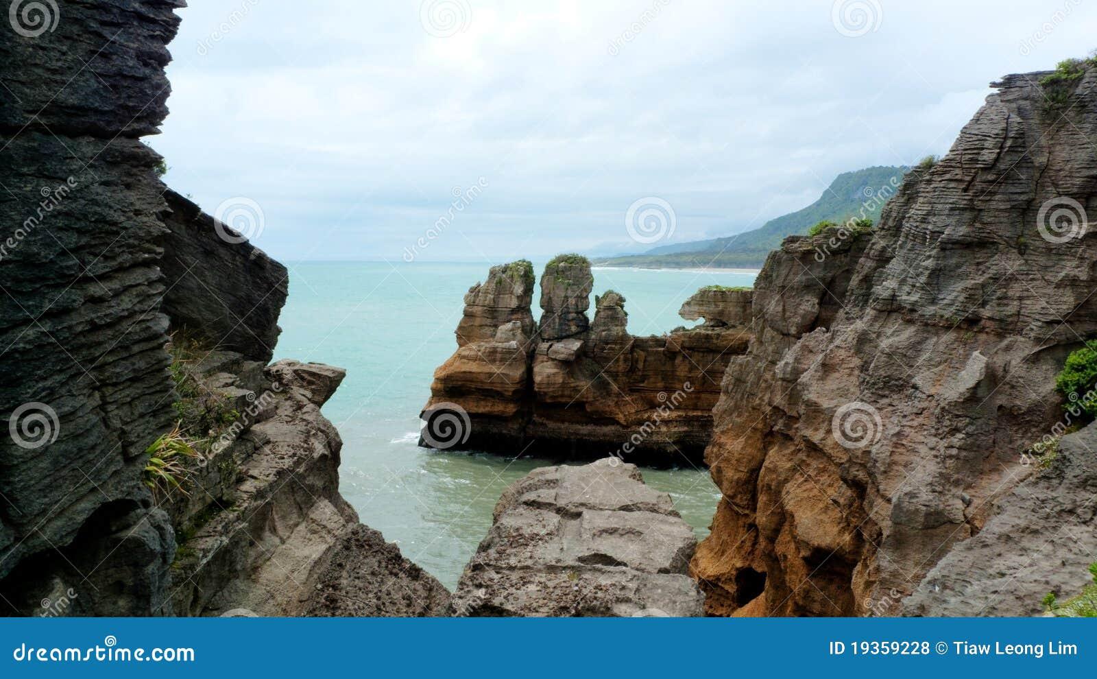 Rochas da panqueca, Nova Zelândia