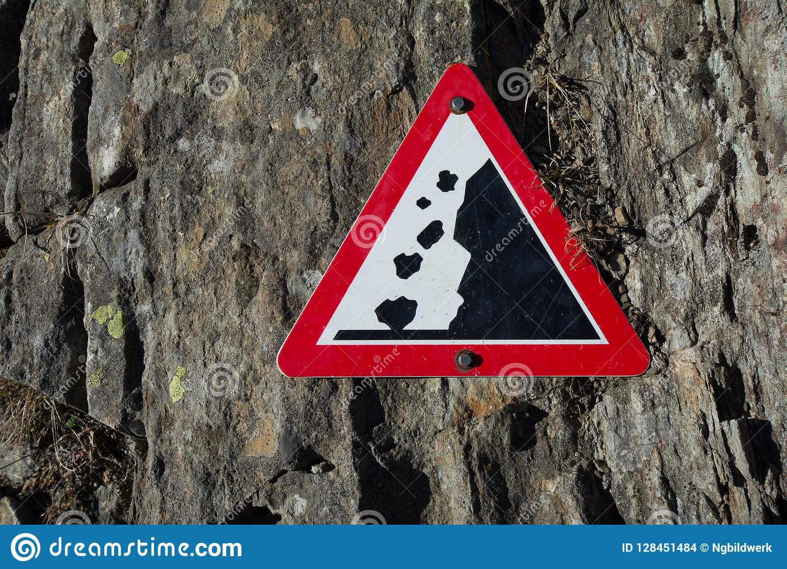 Rochas de Allention - sinal de aviso