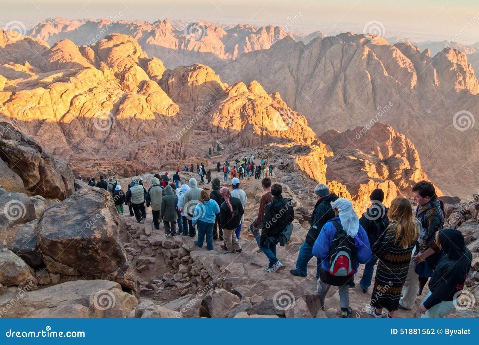Rochas Do Panorama Do Monte Sinai No Amanhecer Fotografia