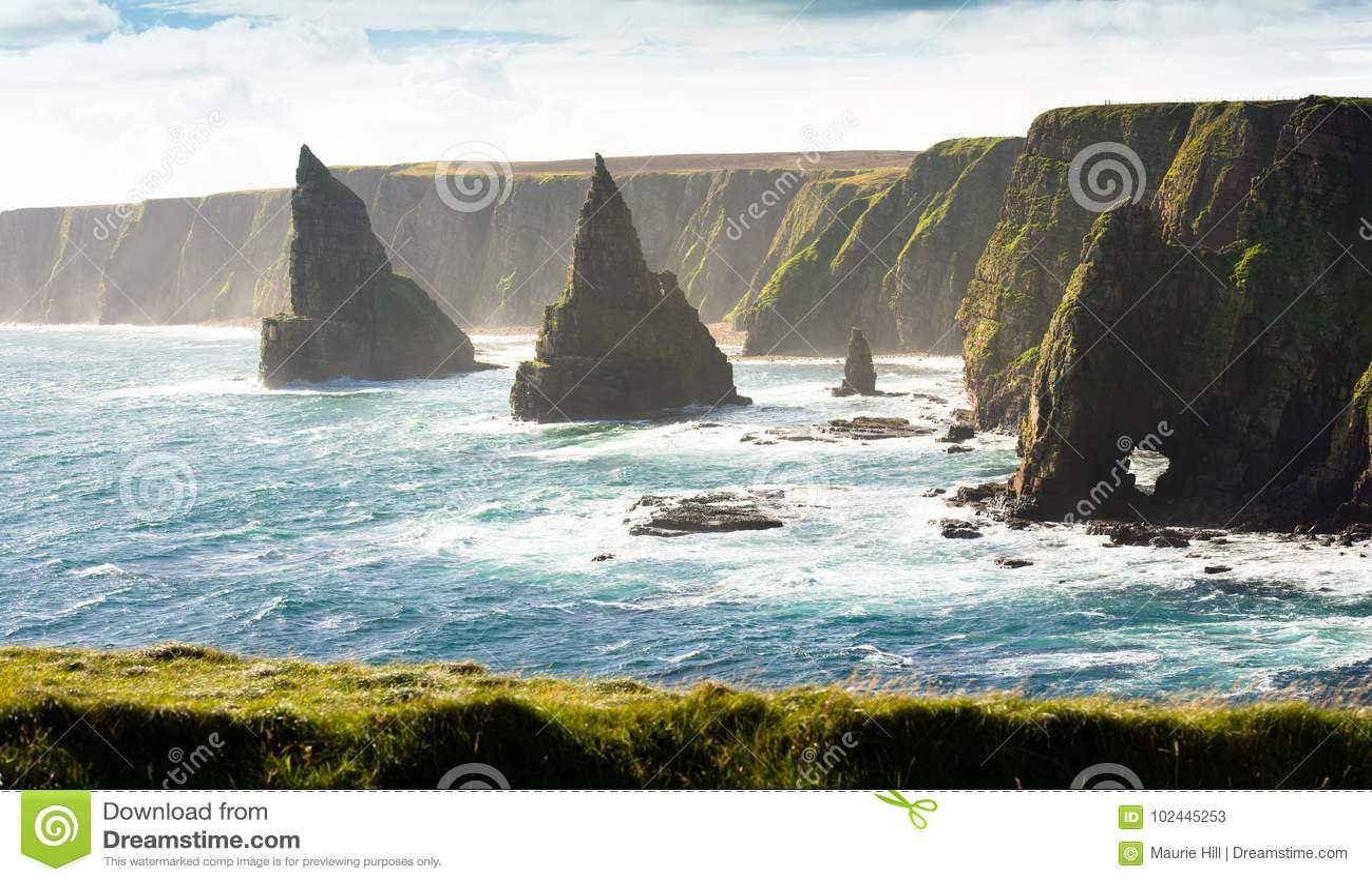 Rochas empilhadas, Escócia do norte