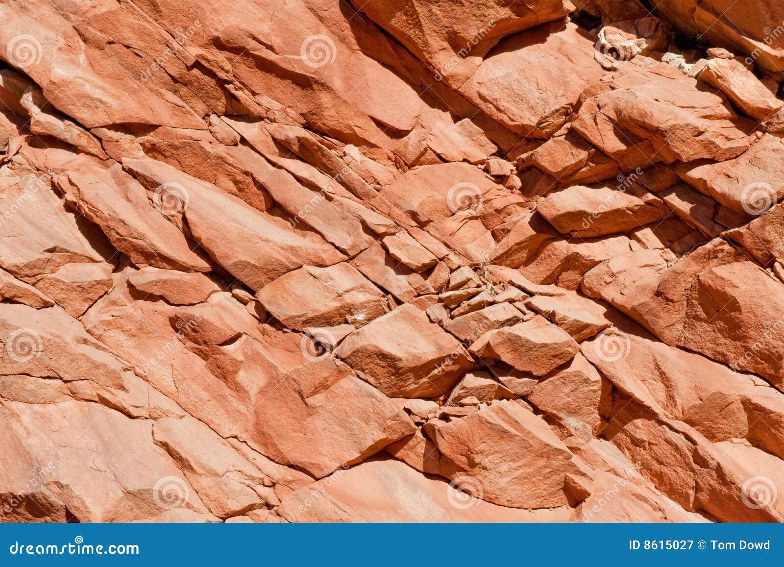 Roche colorée de visage de rochers