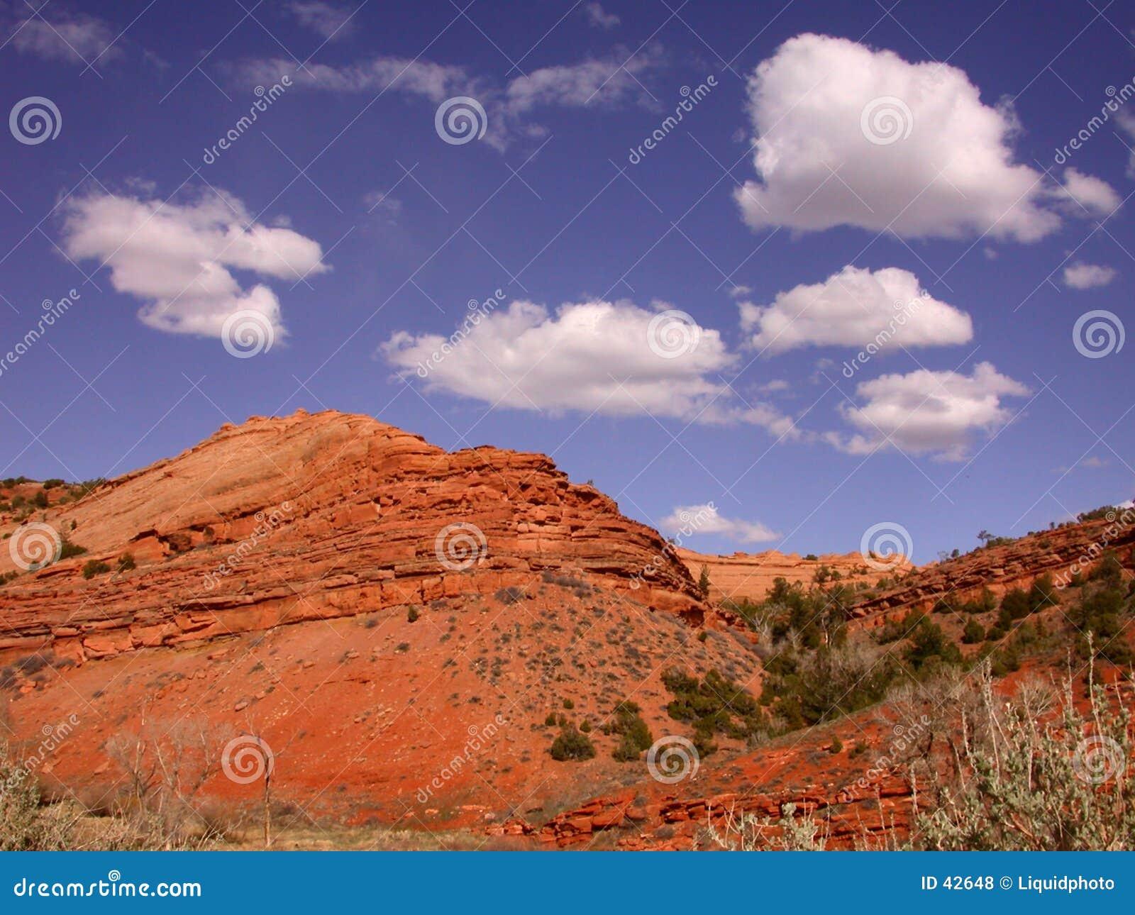 Roches de rouge de désert