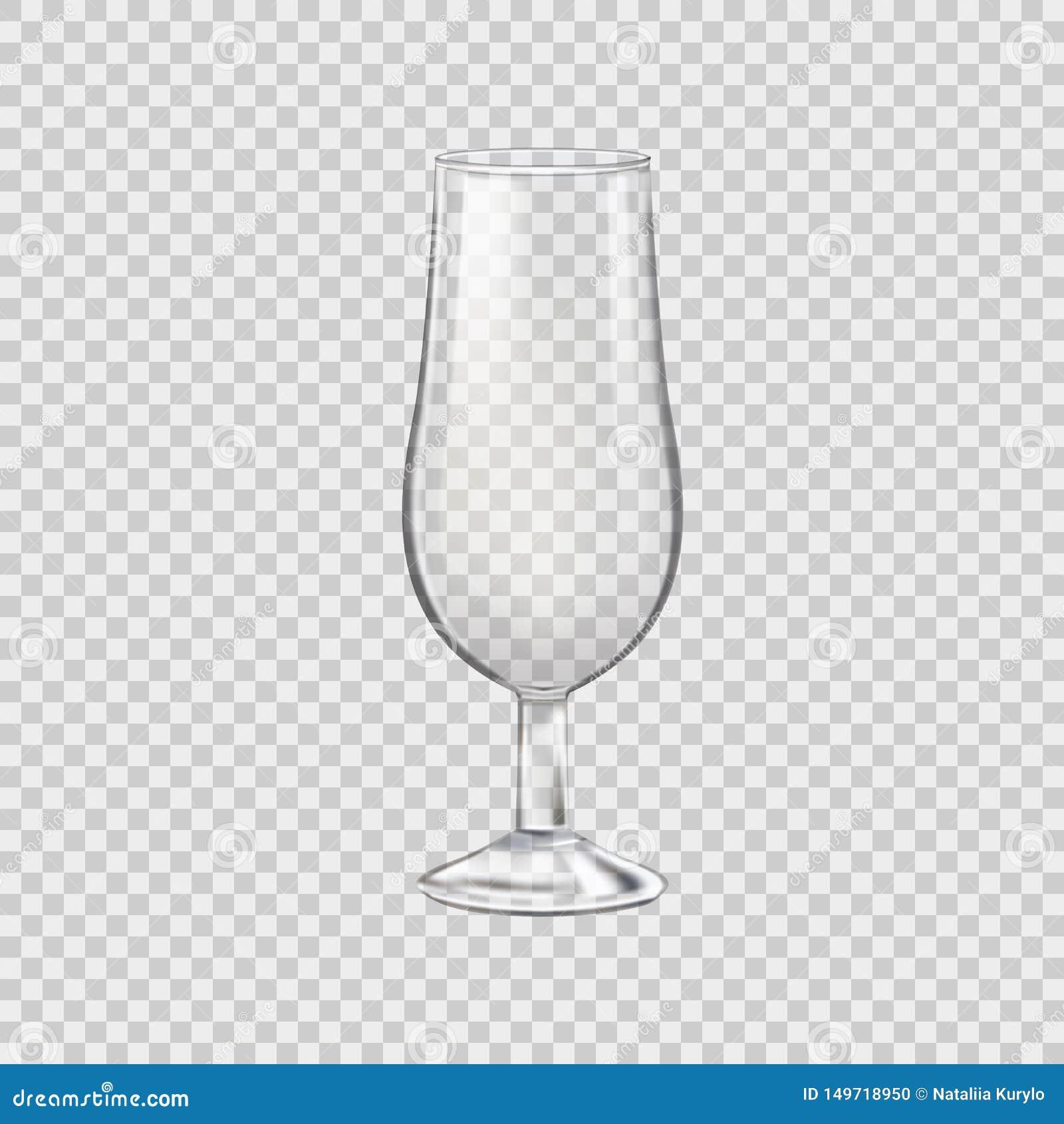 Roches en verre vides pour les boissons alcoolisées, verre transparent Vecteur