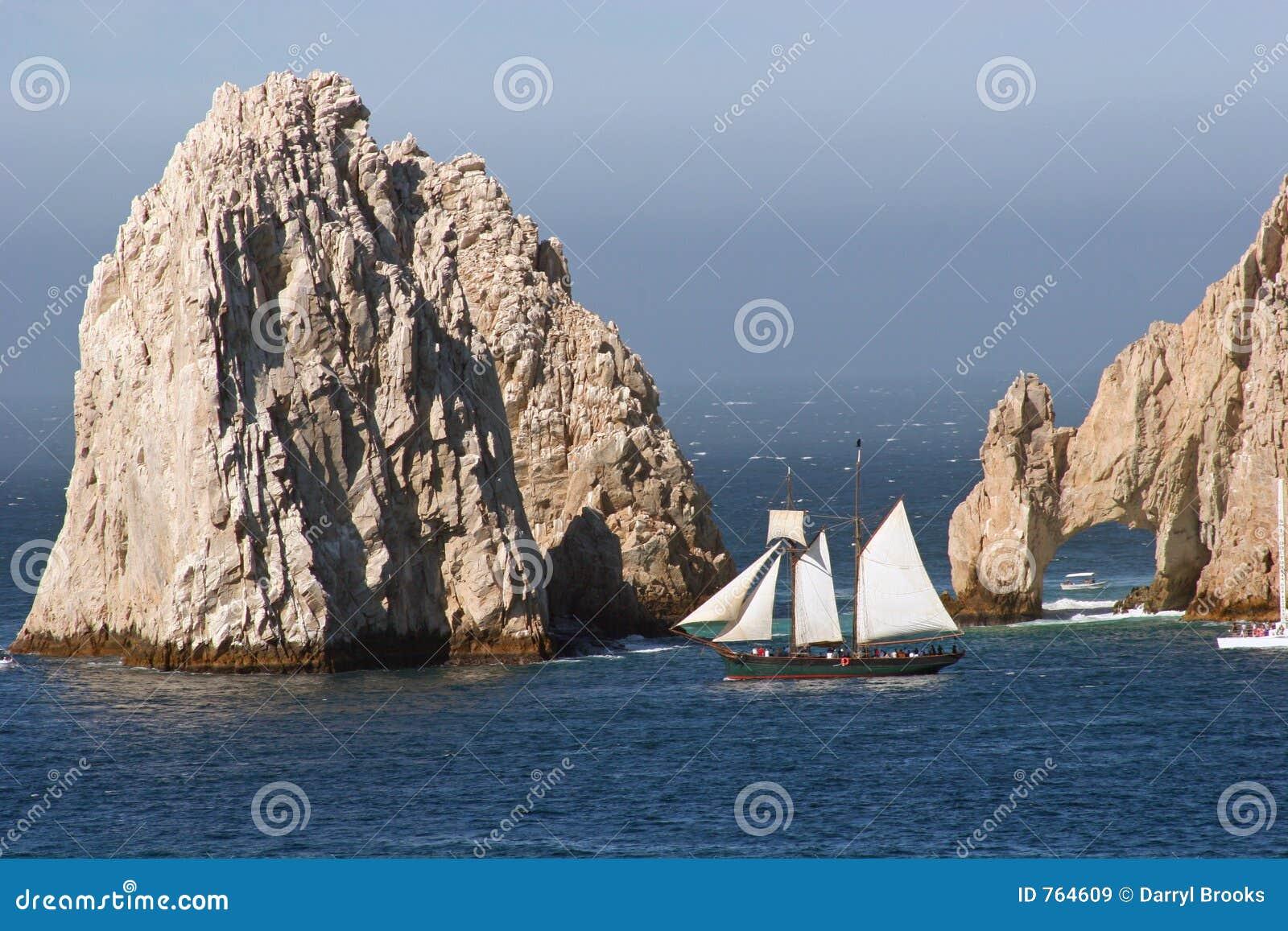 Roches et bateau à voiles 2 de Cabo