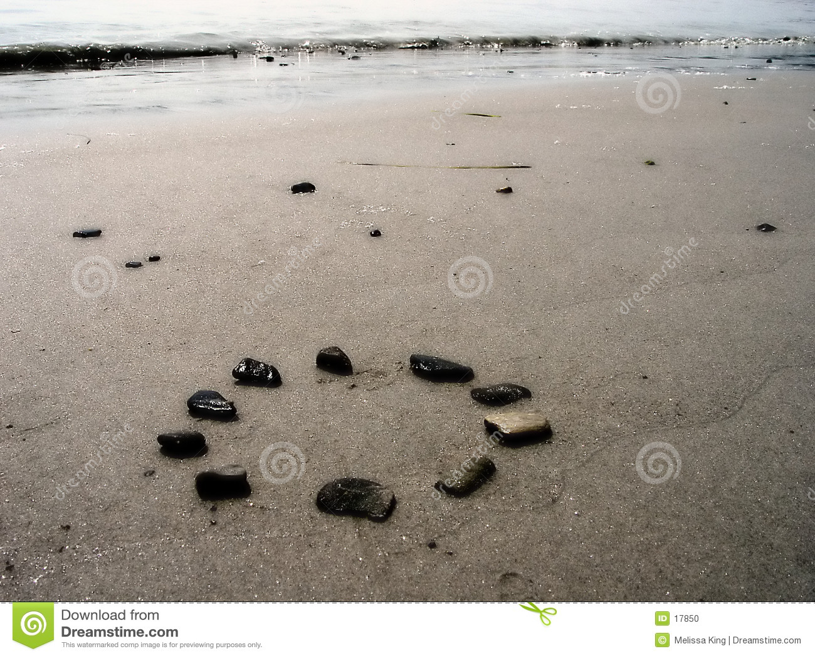 Roches sur la plage
