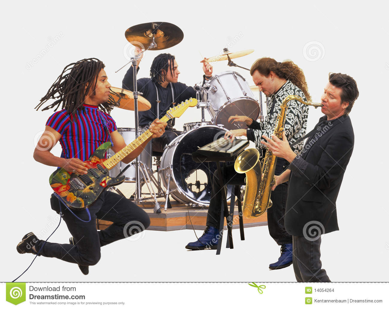 Rock Band Stock Images - Image: 14054264 Rock Band Silhouette