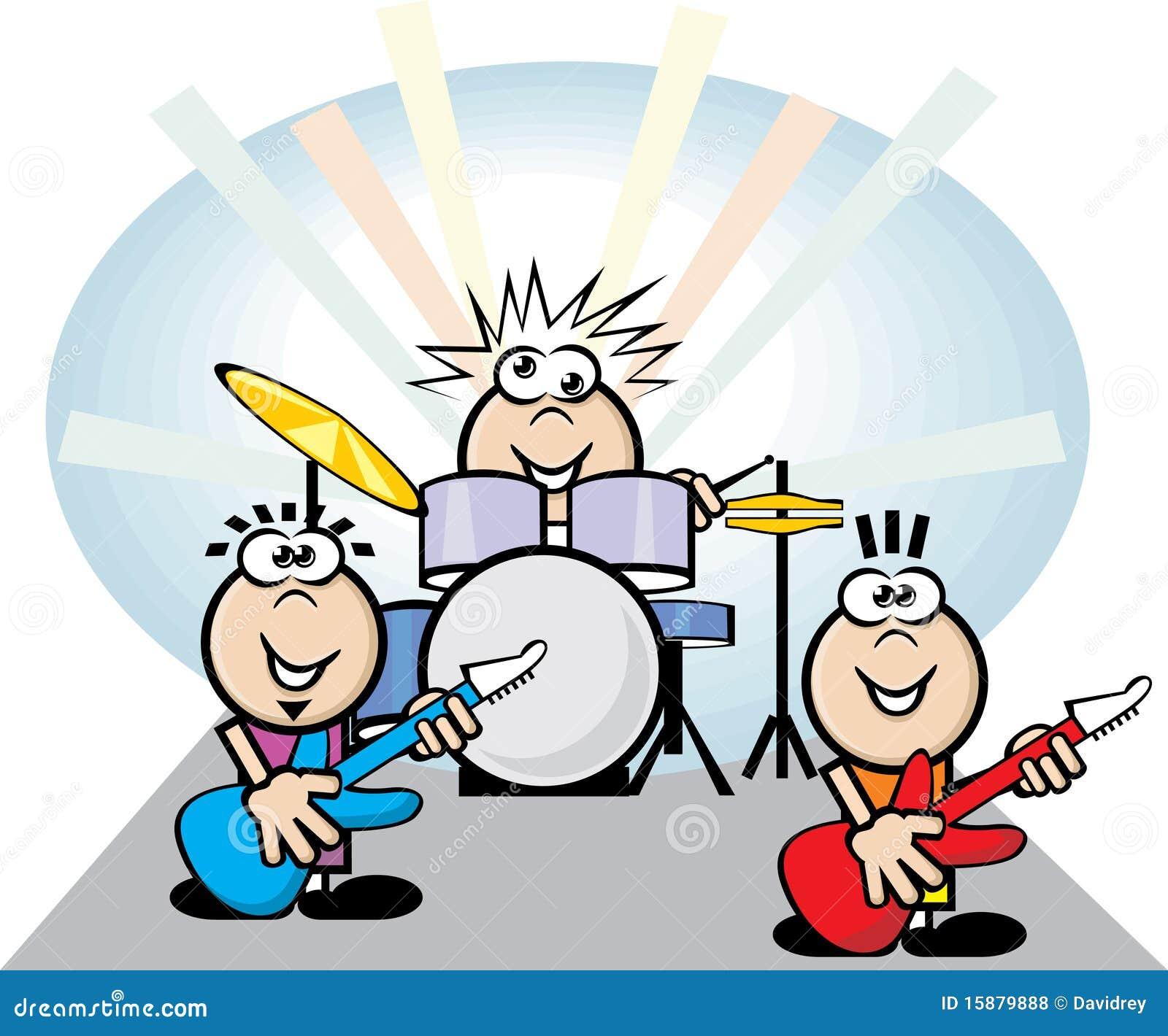 free cartoon rock band clipart - photo #40