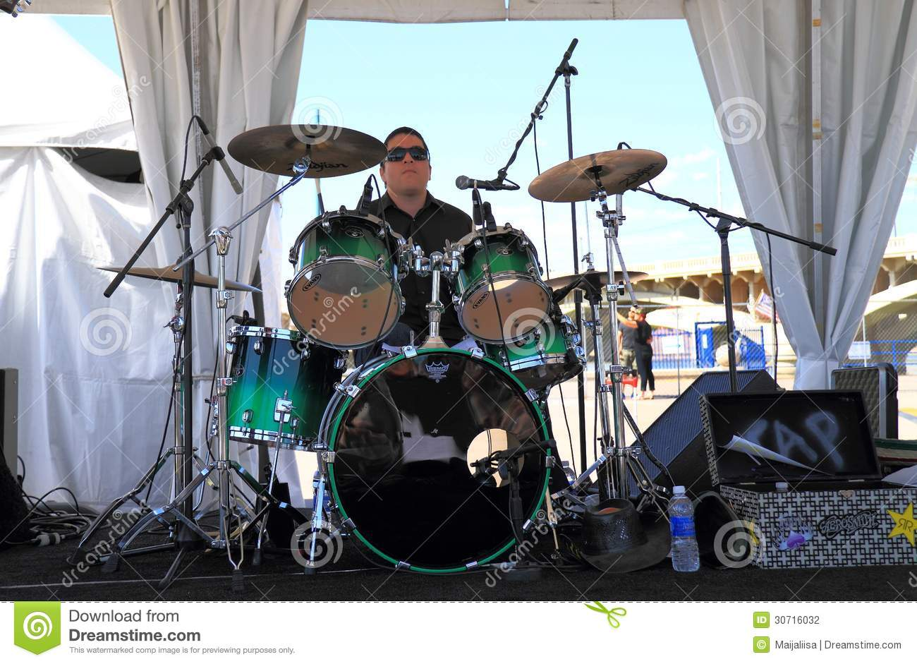 USA, AZ: Rock Band:Drummer/Drum Kit Editorial Photography - Image of
