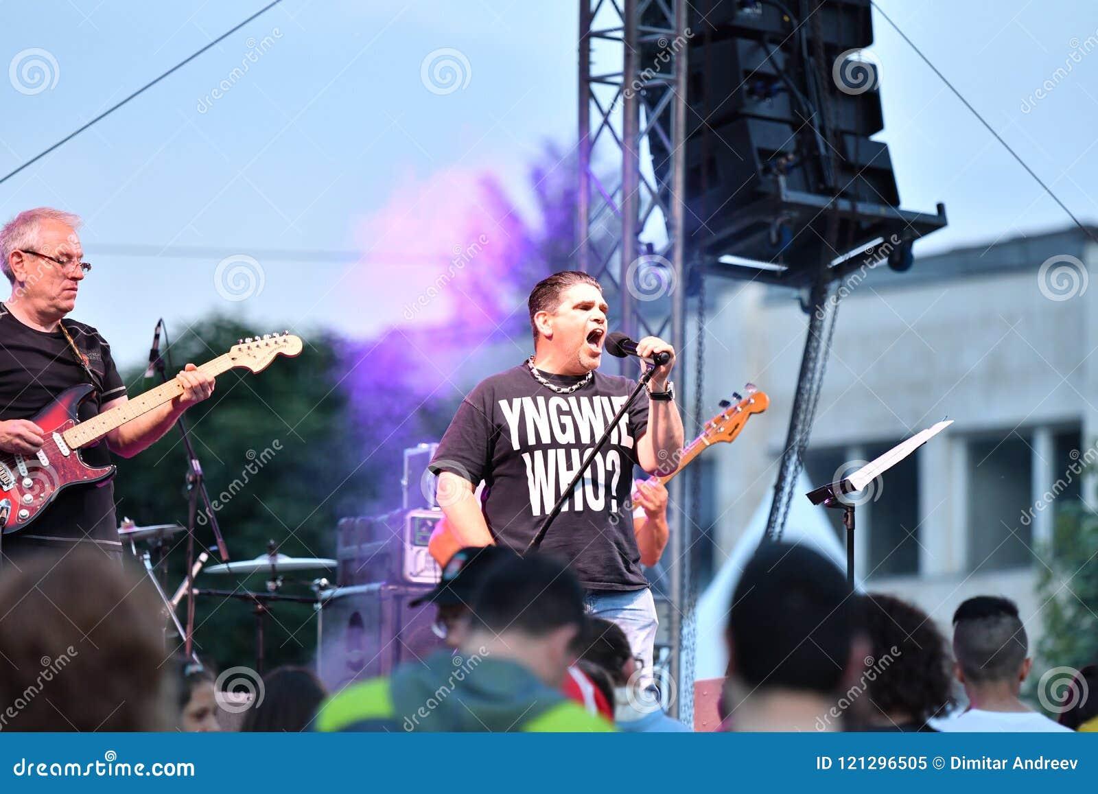 19/05/2018 Panagiurishte, Bulgaria  Rock Band  Editorial Image