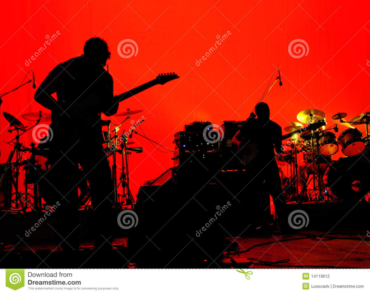 Rock band stage
