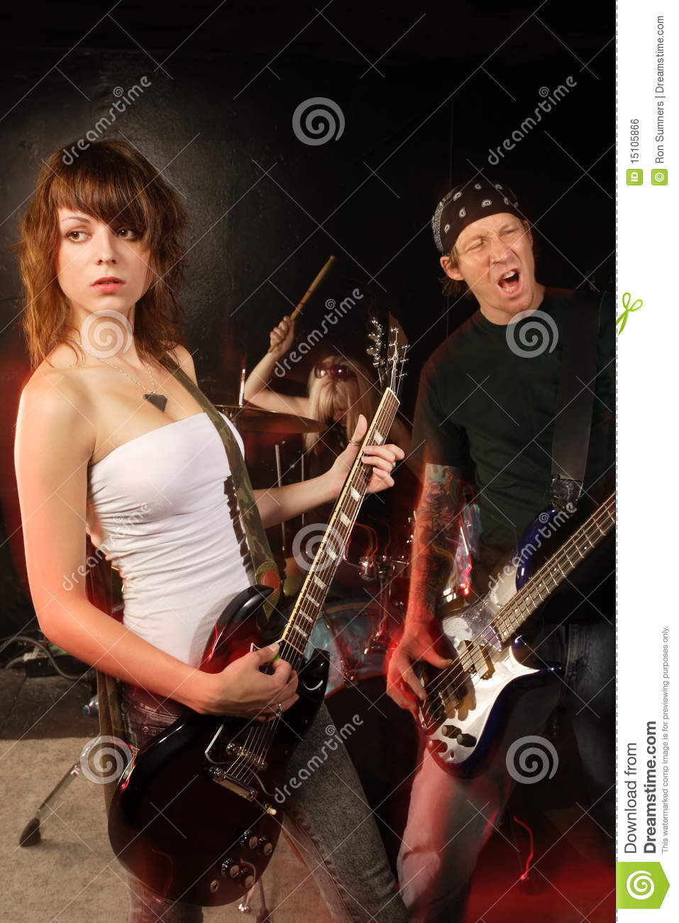 rock band on stage royalty free stock image image 15105866