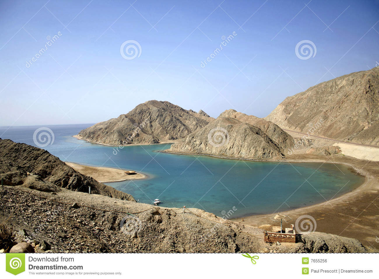 Download Rock Bay In The Red Sea Region Stock Photo - Image of aerial, relaxation: 7655256