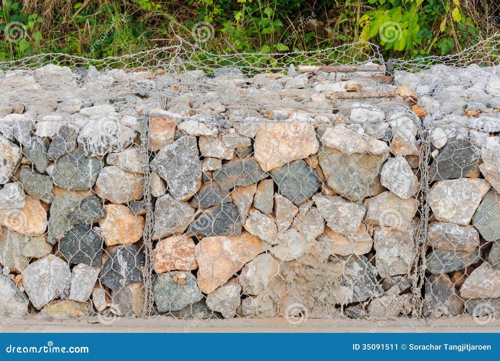 Rock Blocks Prevent Landslides Stock Image Image 35091511