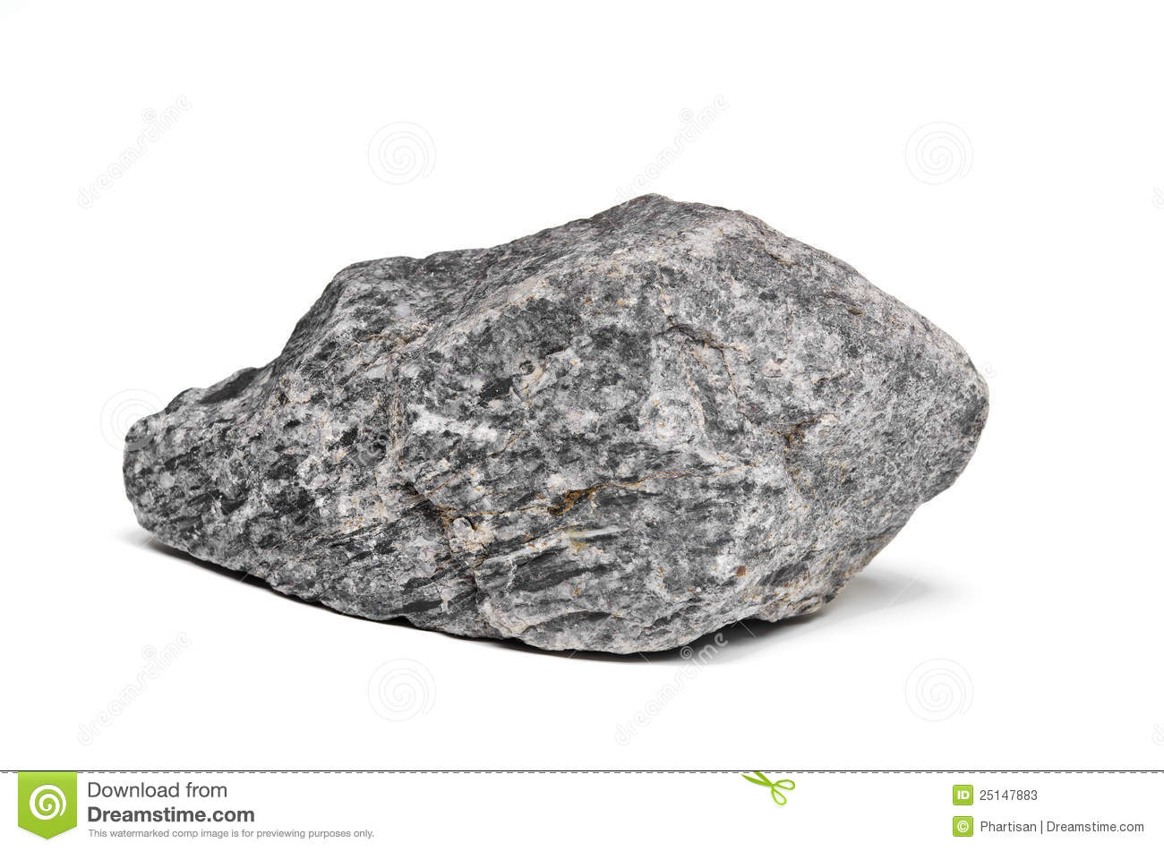 Rock Boulder On White Stock Photos - Image: 25147883