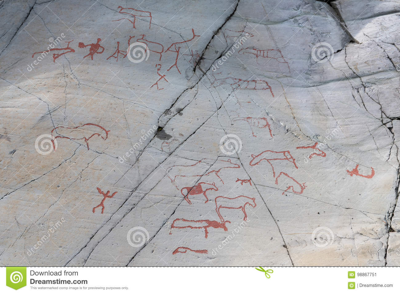 Rock carvings in alta finnmark stock image image of carved