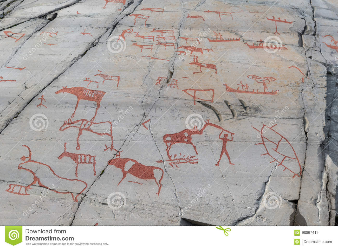 Rock carvings in alta norway stock image image of background
