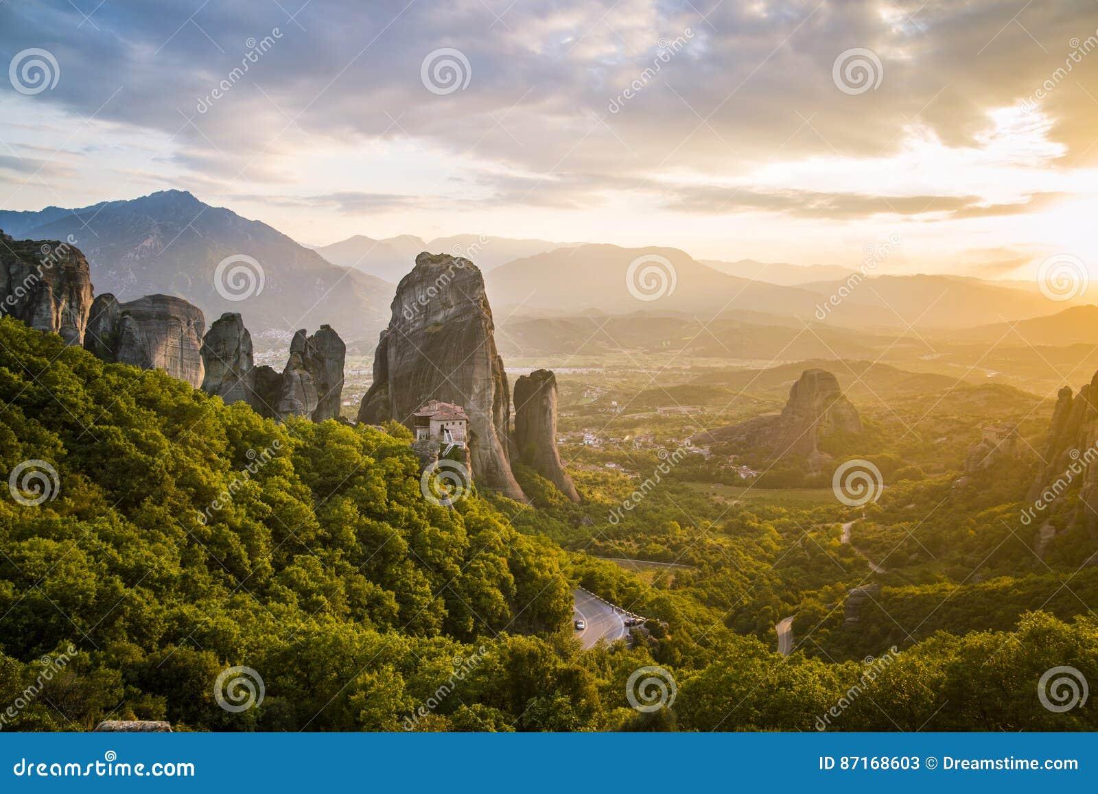 Rock Cliffs of Meteora Greece
