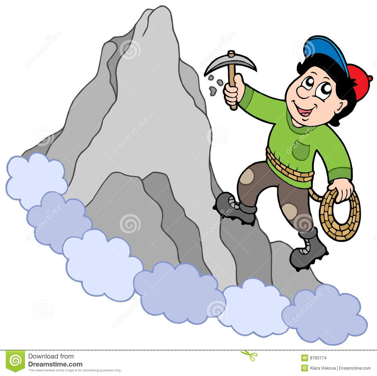 Rock Climber On Mountain Stock Images - Image: 8783174