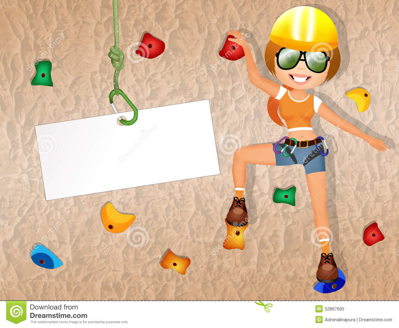 Rock Climbing Wall Stock Illustrations – 268 Rock Climbing Wall ...