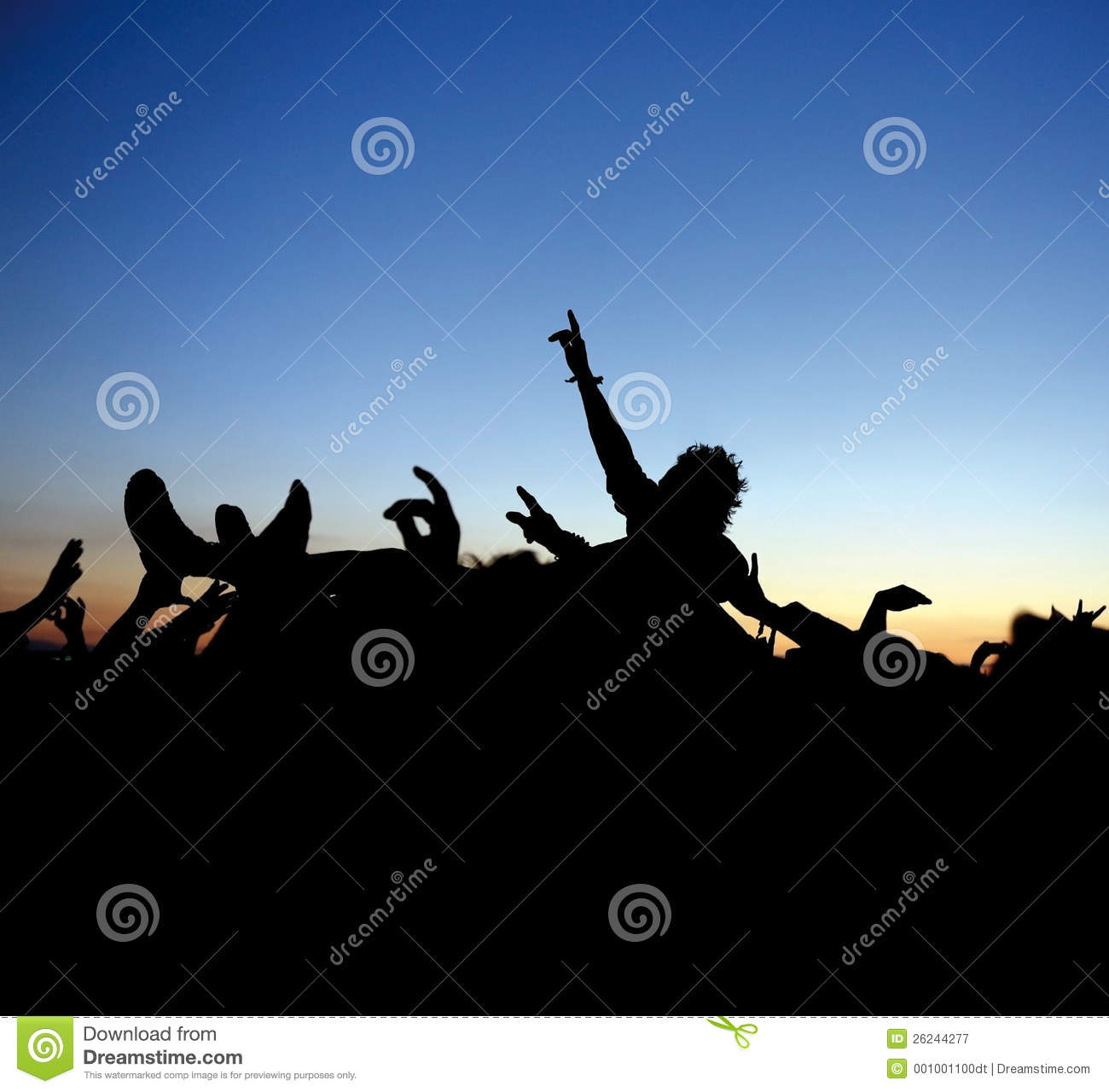 Rock Concert Crowd Surf stock image. Image of hands, stage ...